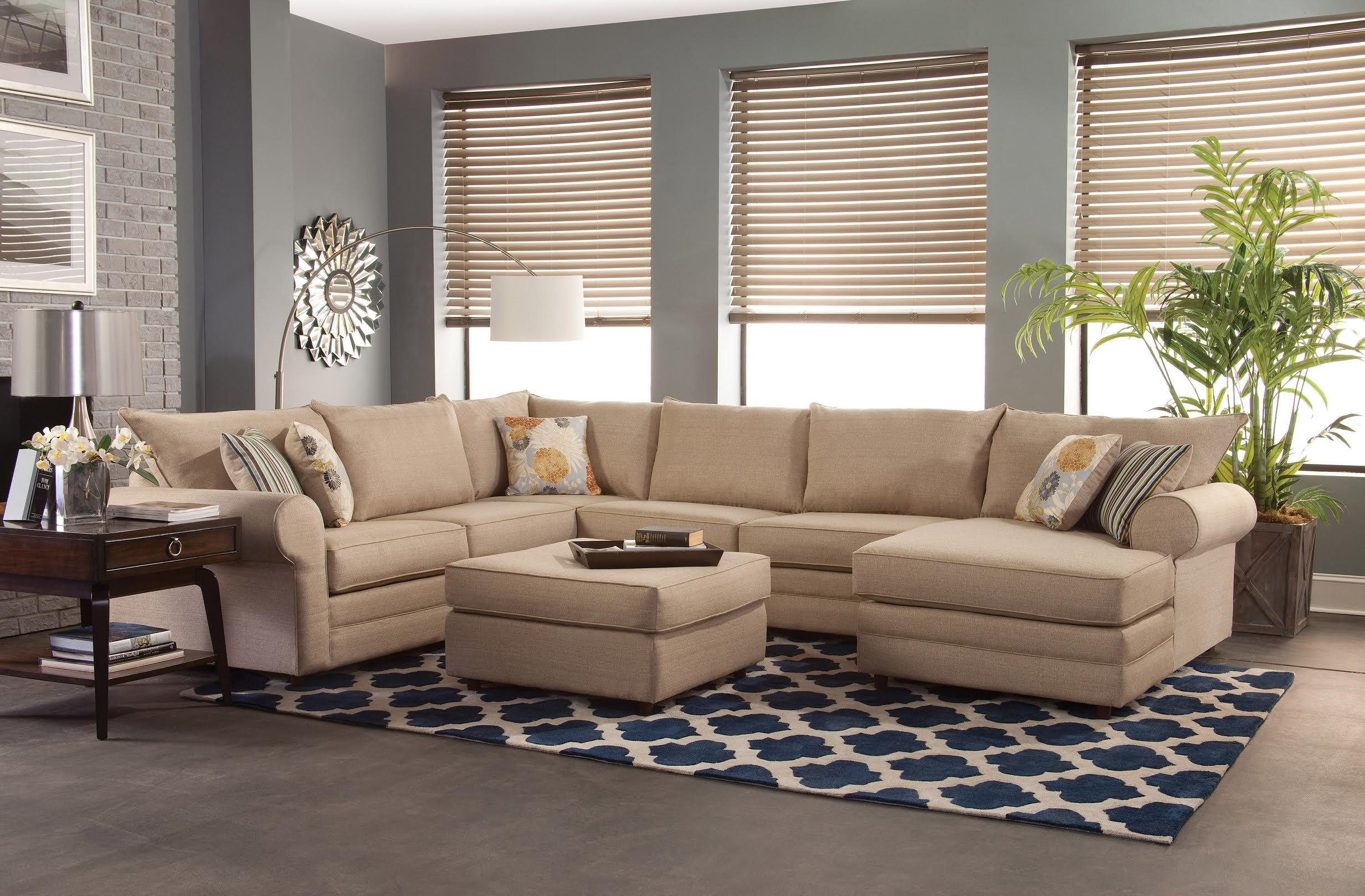 Belfort essentials monticello casual sectional sofa for Casual couch