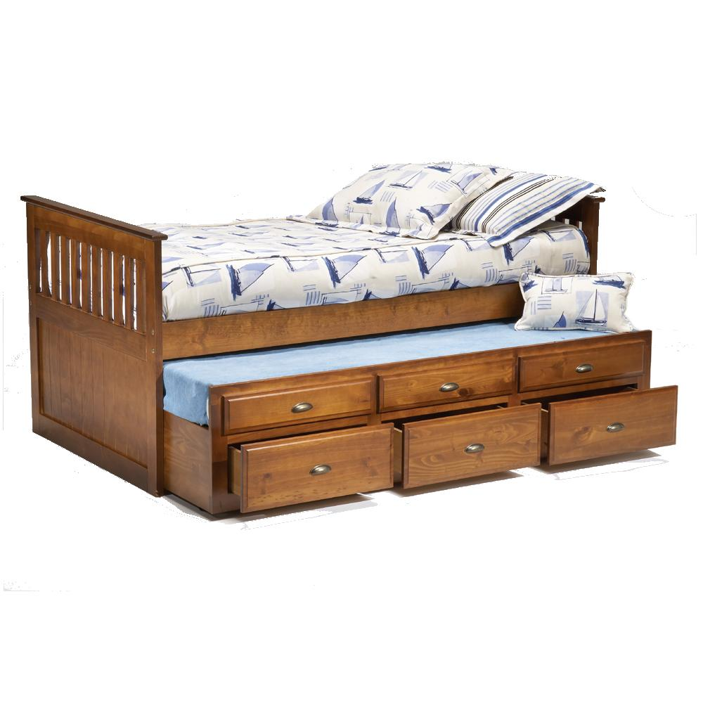 Bernards Logan Twin Captain 39 S Bed With Trundle Drawers