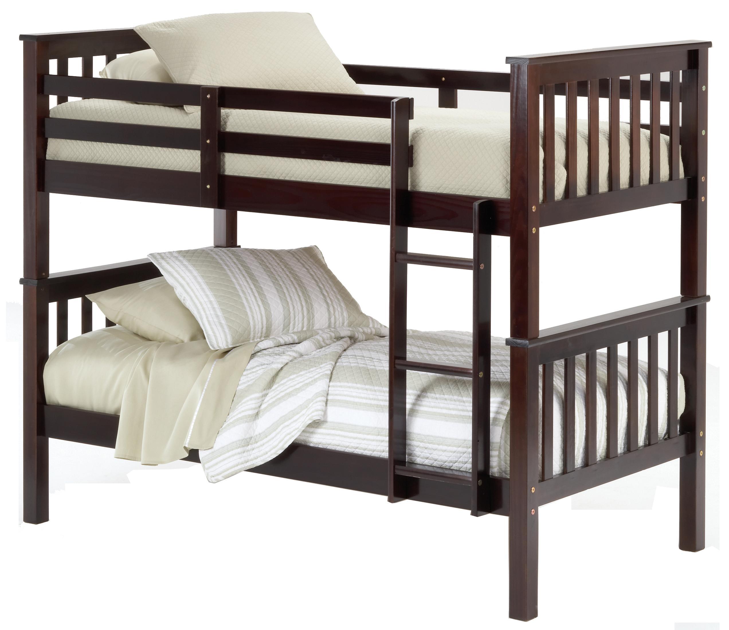 Bernards Sadler Twin Bunk Bed Requires Bunkie Boards