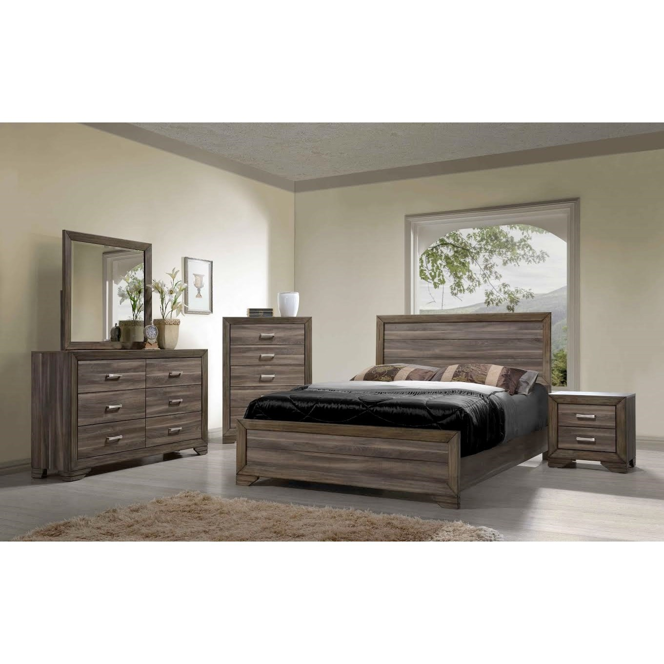 Bernards Asheville Queen Bedroom Group | Wayside Furniture ... for Driftwood Color Furniture  177nar