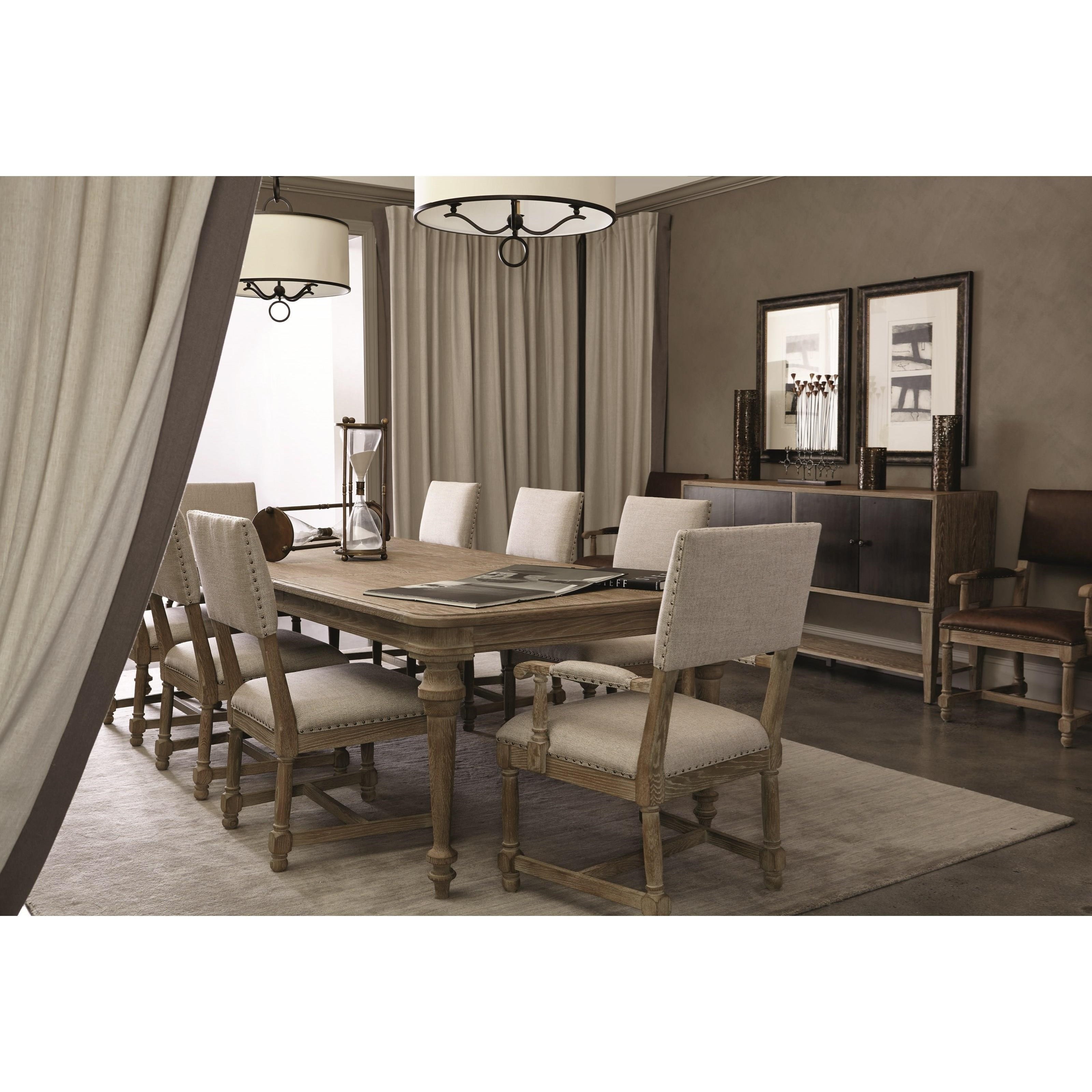 Bernhardt antiquarian 365 222 dining table with 2 leaves for Furniture 365 oldham