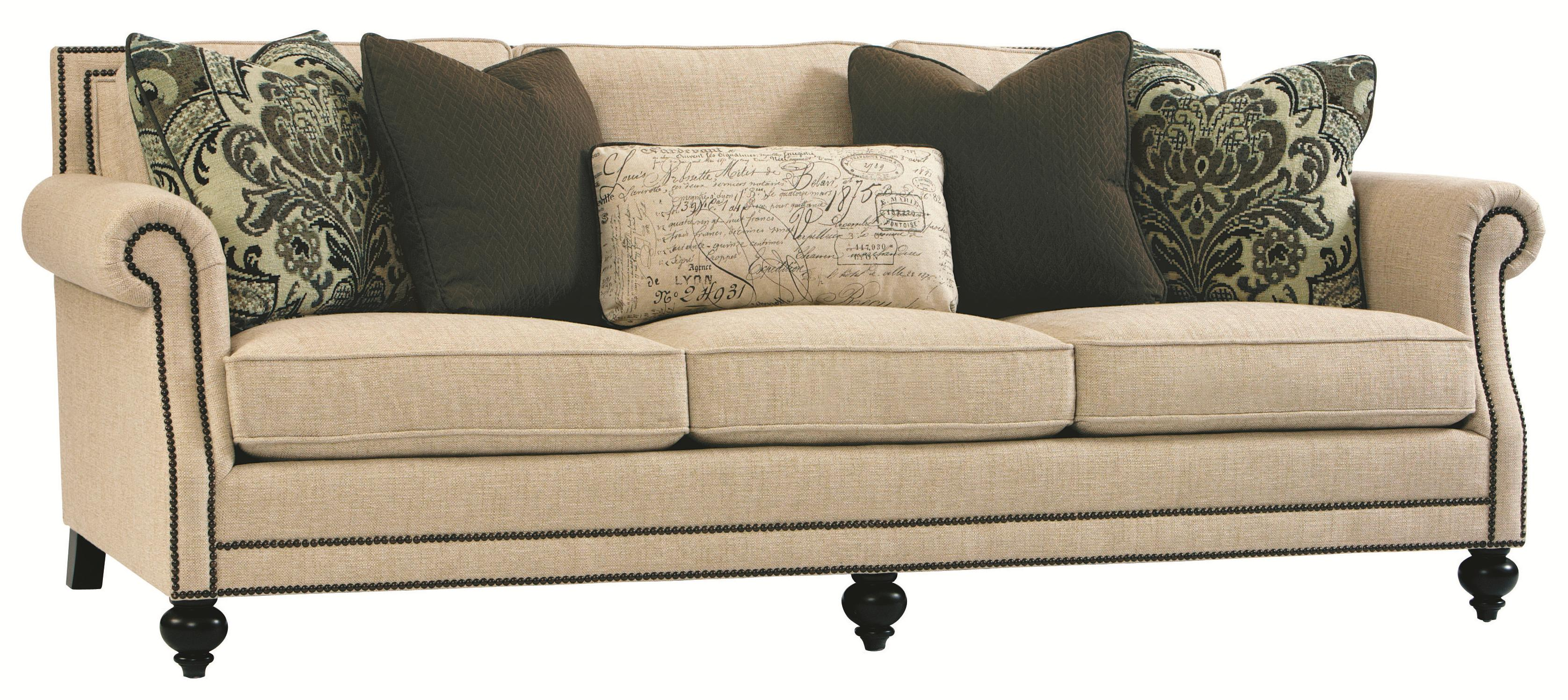 Bernhardt brae elegant and traditional living room sofa for Elegant traditional living room furniture