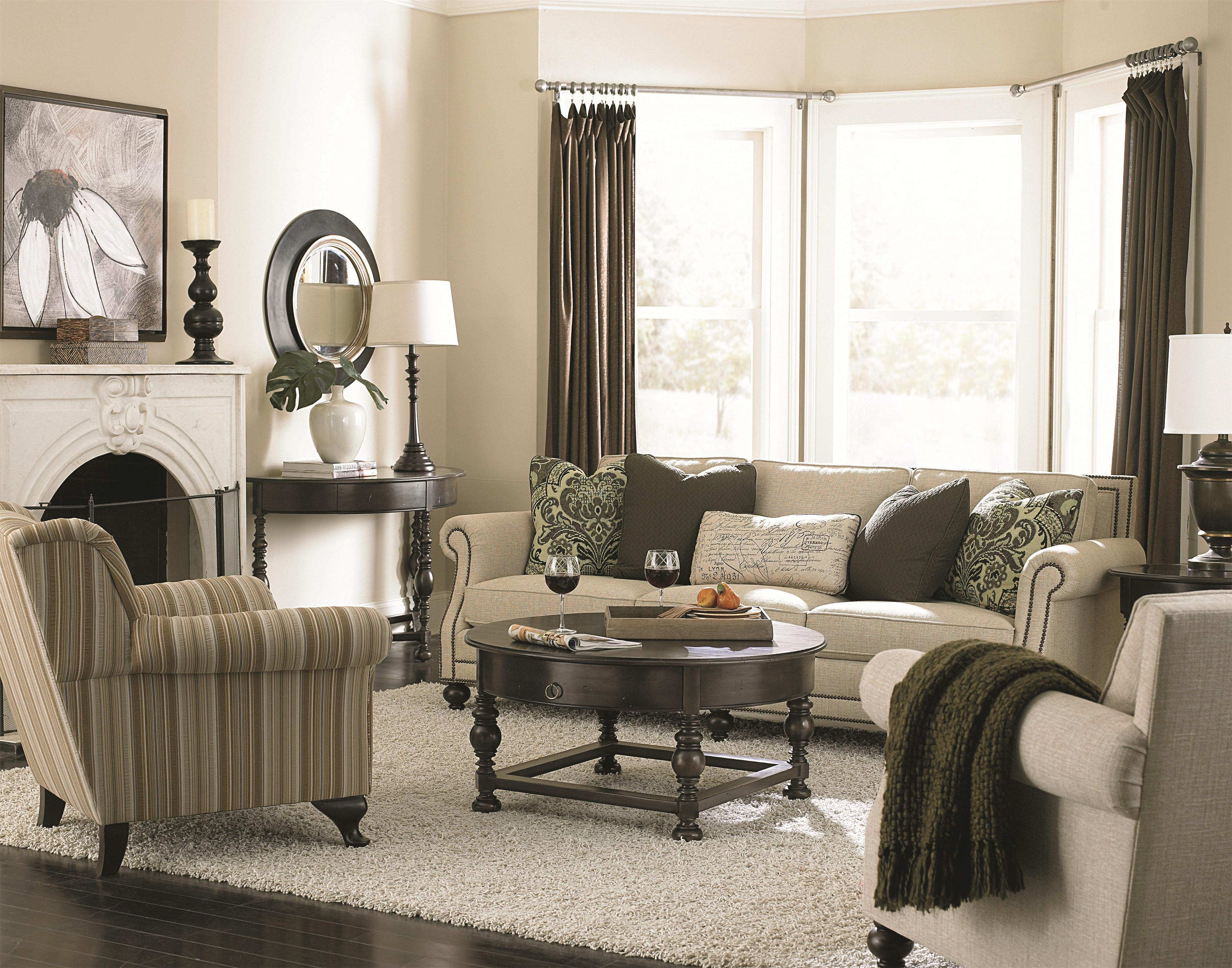 Bernhardt brae b6717 elegant and traditional living room sofa with high end furniture style Bernhardt living room furniture