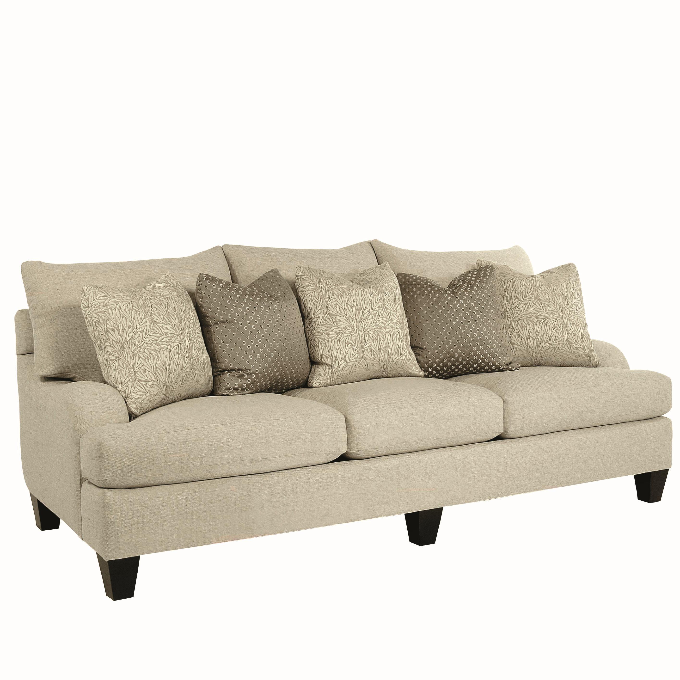 Bernhardt Brooke Upholstered Sofa with Block Legs - Dunk & Bright ...