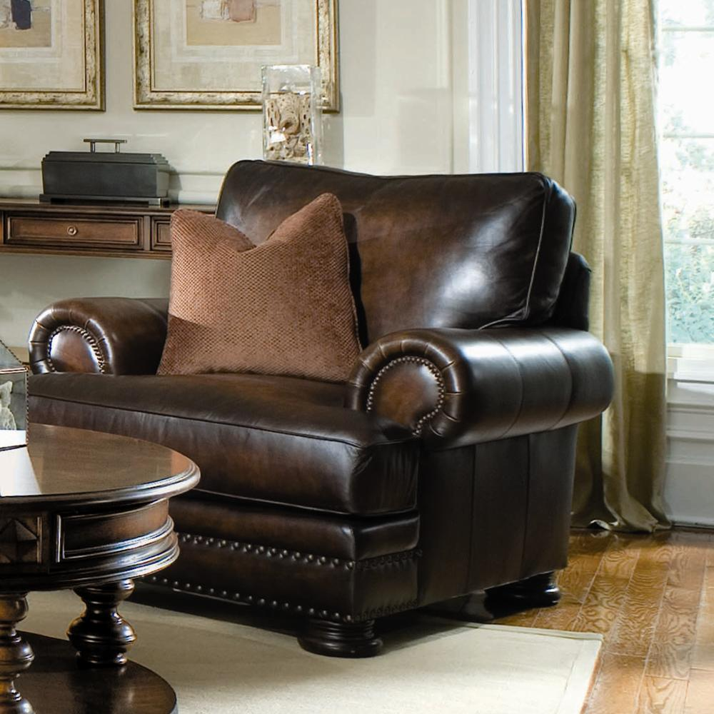 Bernhardt foster upholstered living room chair with nailhead belfort furniture upholstered Bernhardt living room furniture