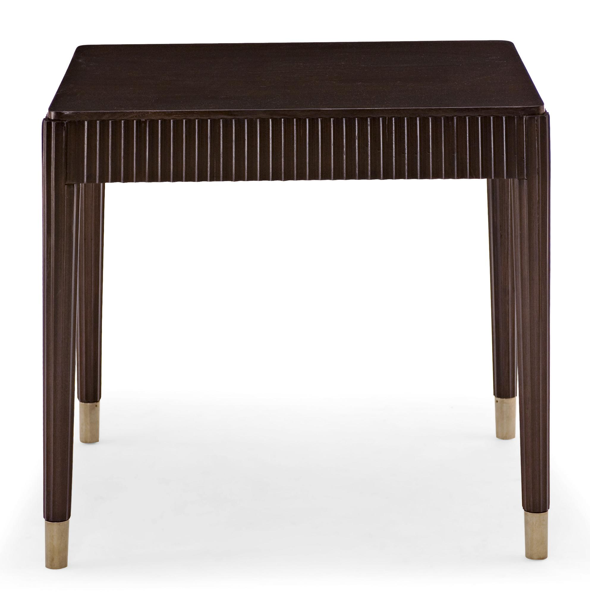 Bernhardt haven 346 112r end table with fluting dunk for Bright colored side tables