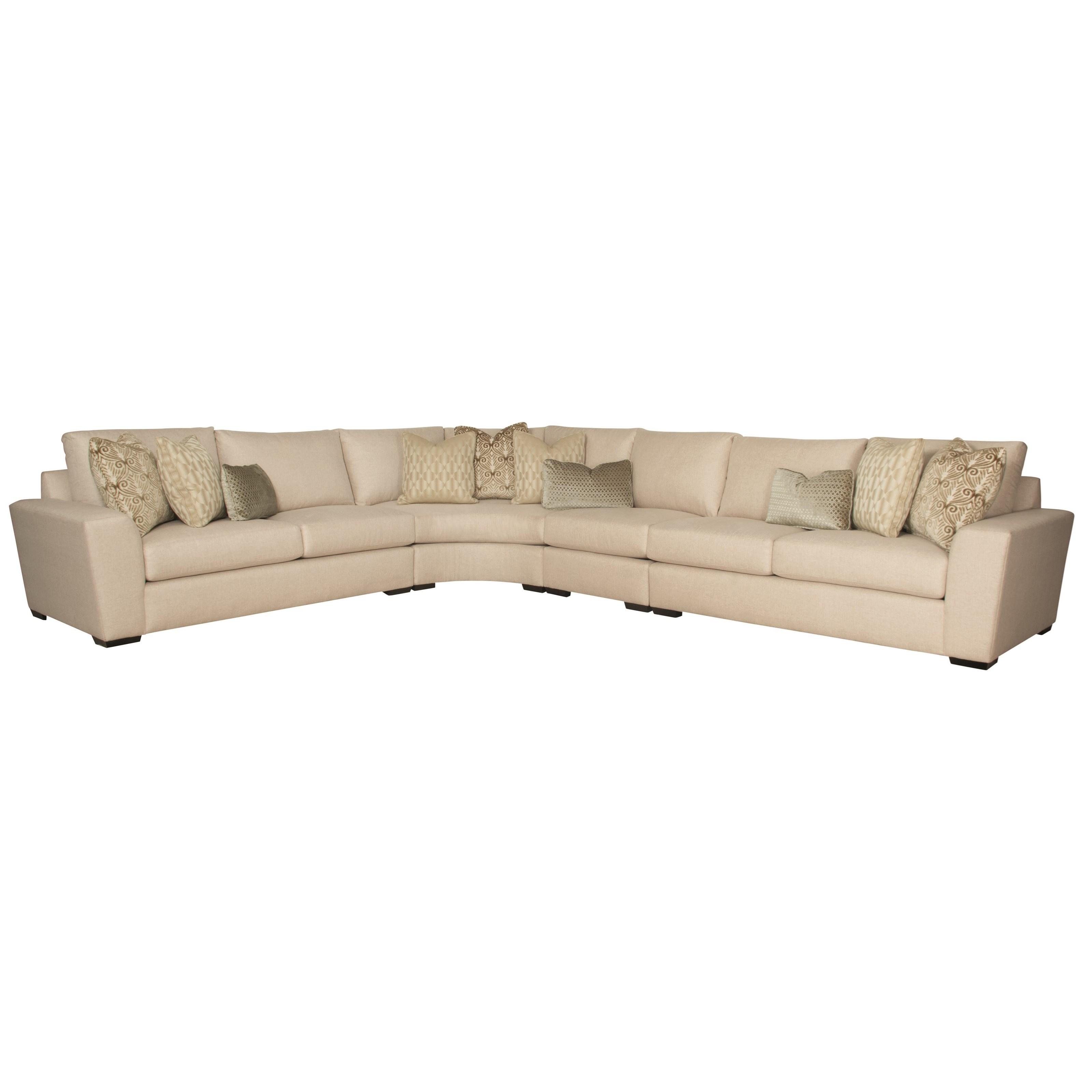 Bernhardt lockett sectional sofa seats 6 dunk bright for Bernhardt furniture sectional sofa