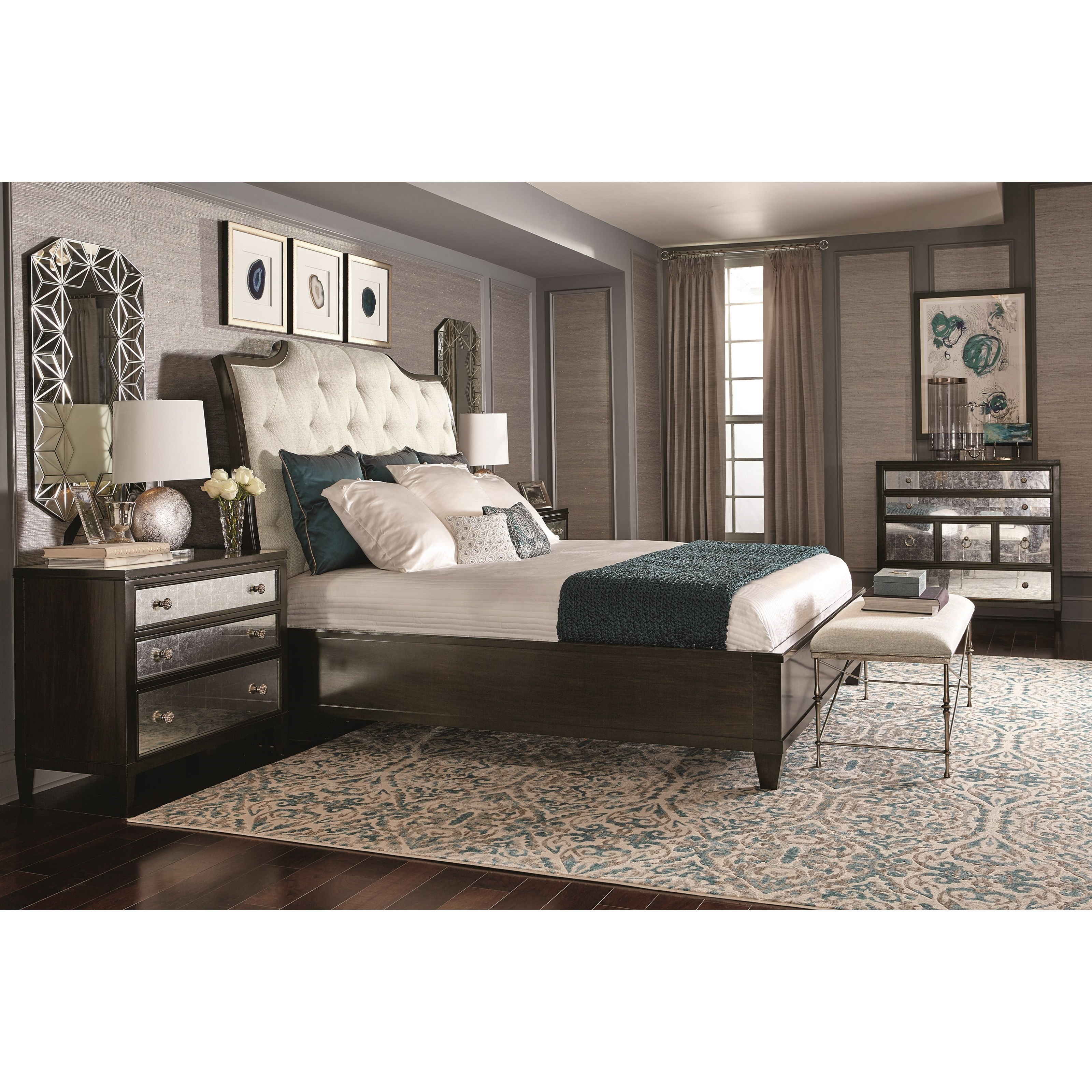 Bernhardt sutton house king bedroom group dunk bright - Bright house bedroom furniture ...