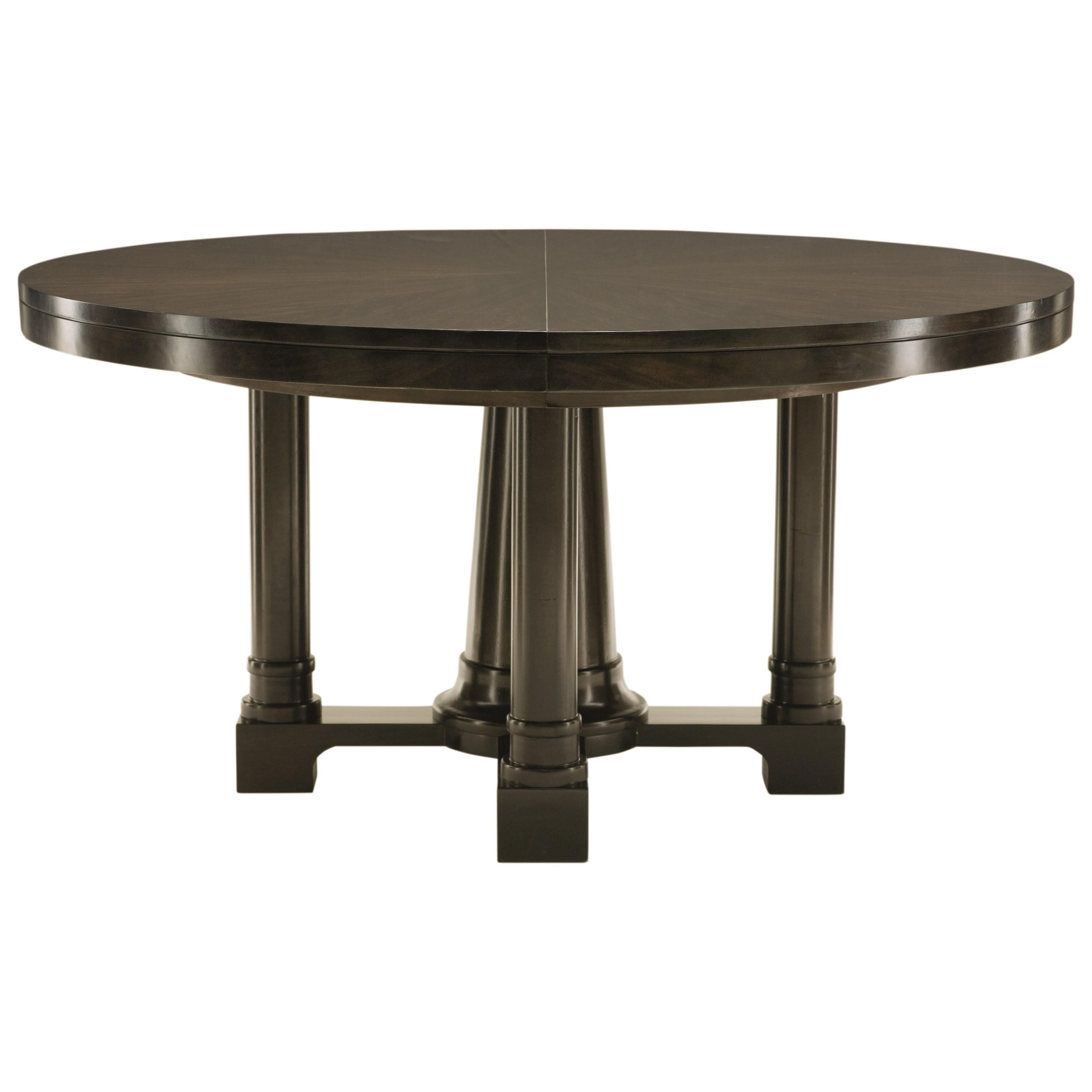 bernhardt sutton house round pedestal dining table with 20 leaf dream home furniture dining. Black Bedroom Furniture Sets. Home Design Ideas
