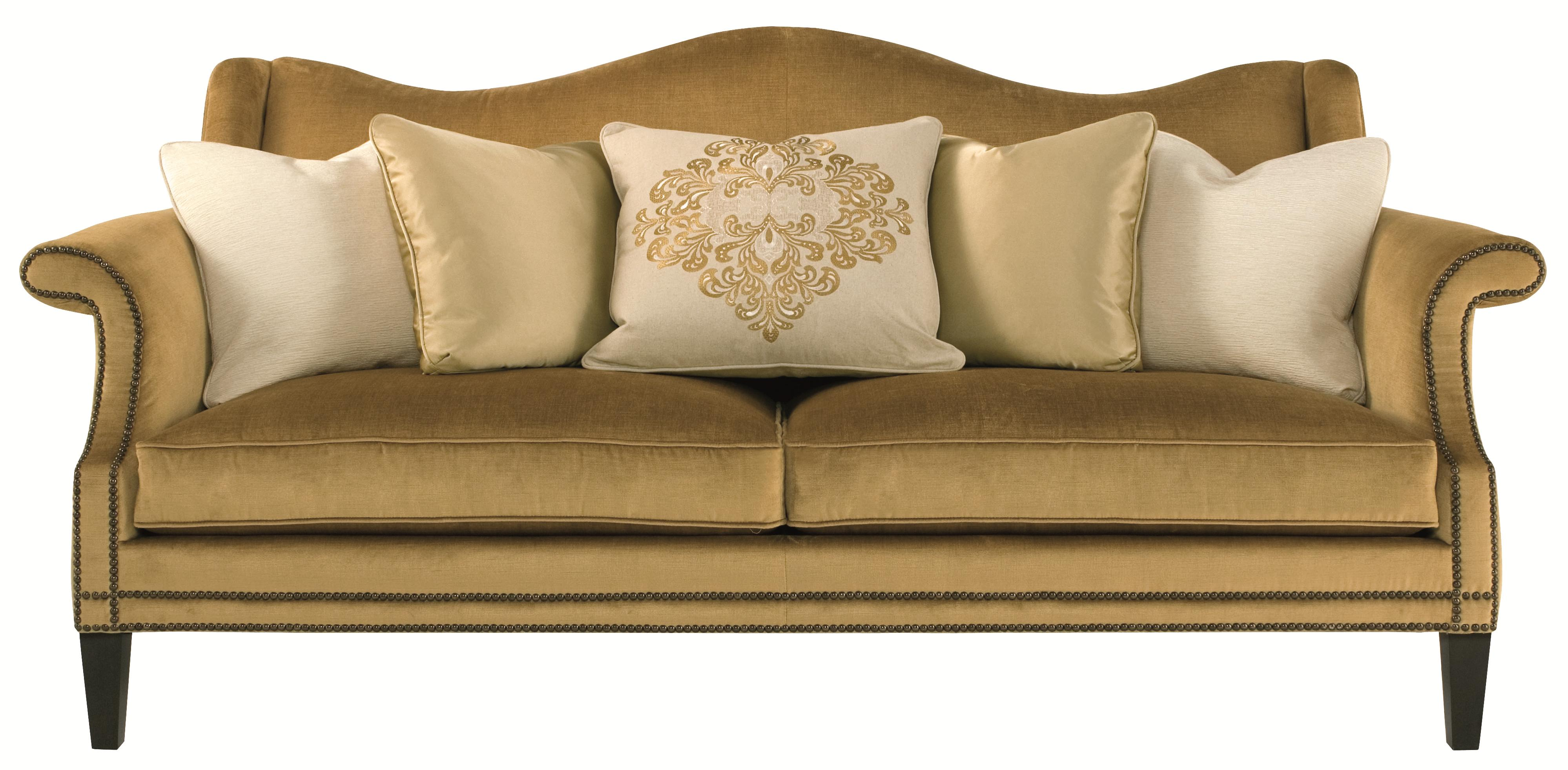 Bernhardt Upholstered Accents Fitzgerald Sofa with Camel