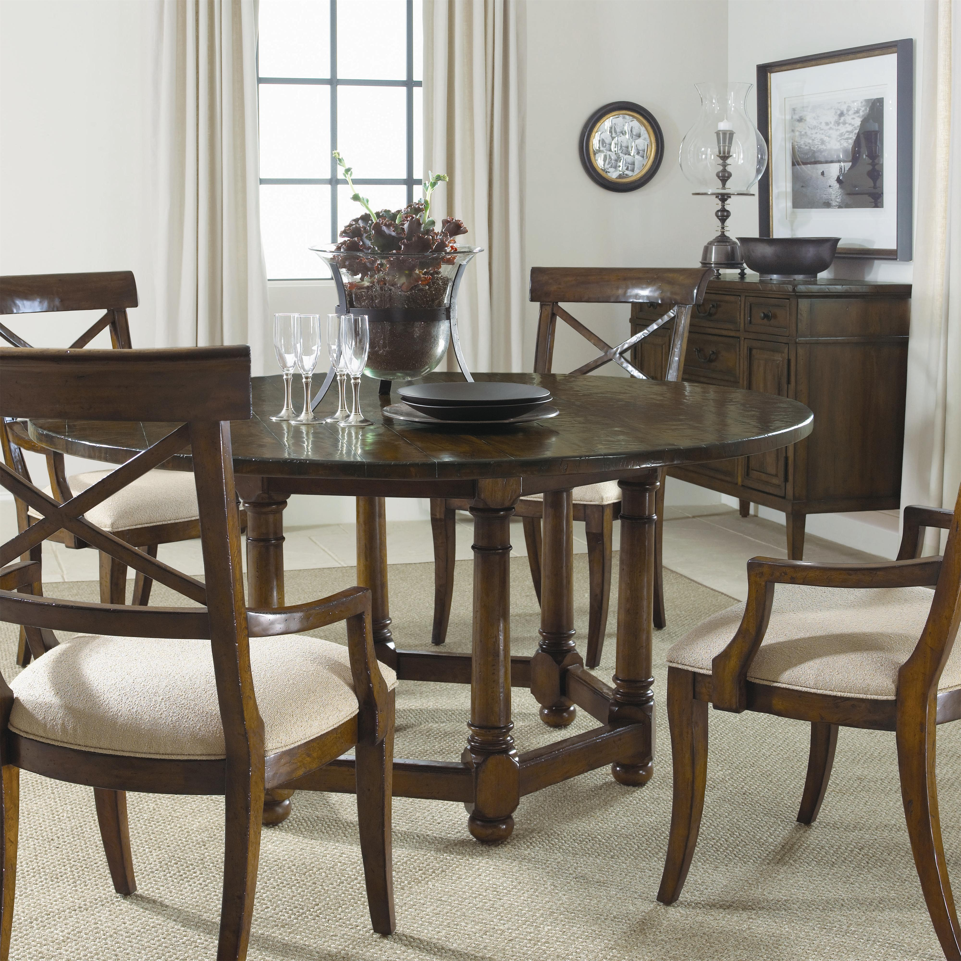 Bernhardt vintage patina quot round dining room table