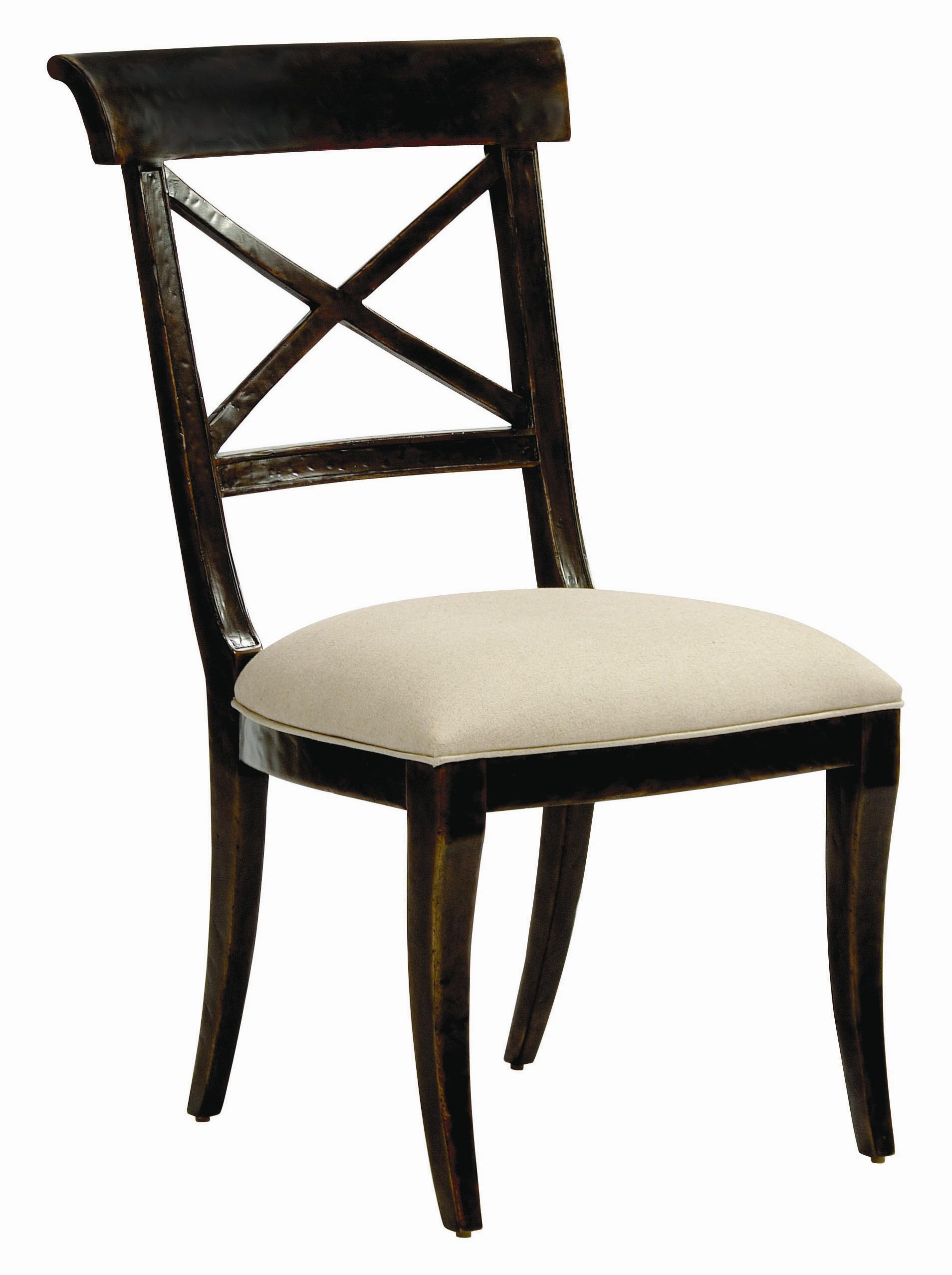 Bernhardt vintage patina dining room side chair with