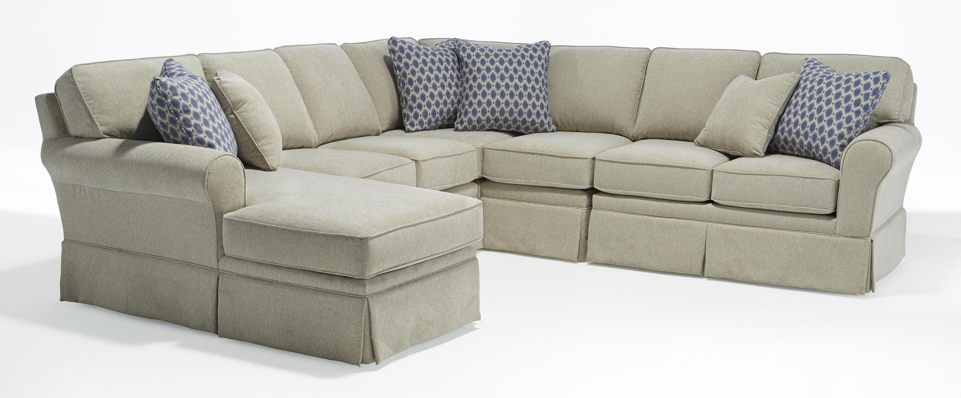 Annabel five piece customizable sectional sofa with sock for Best furnishings