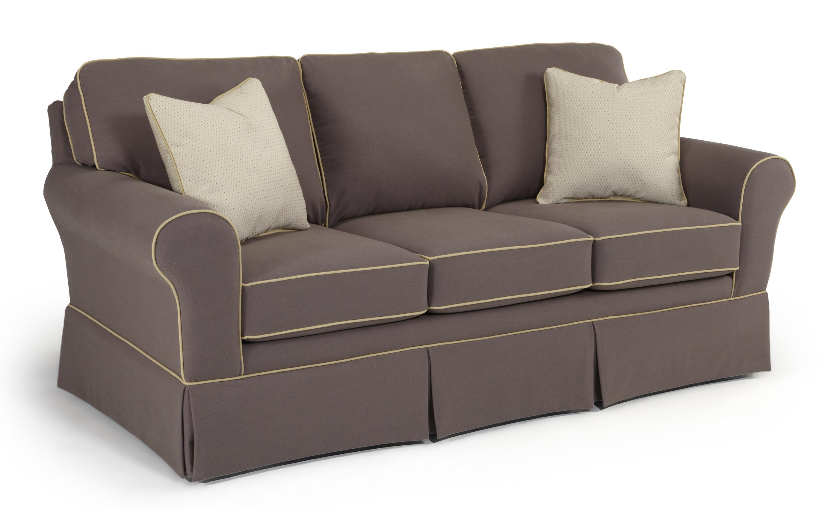 Annabel customizable traditional sofa with rolled arms and for Traditional couches