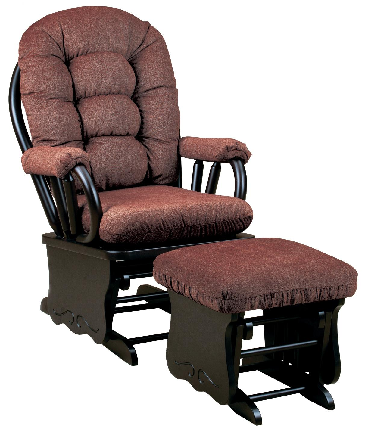Best home furnishings bedazzle gliding rocker and ottoman for Best chair and ottoman