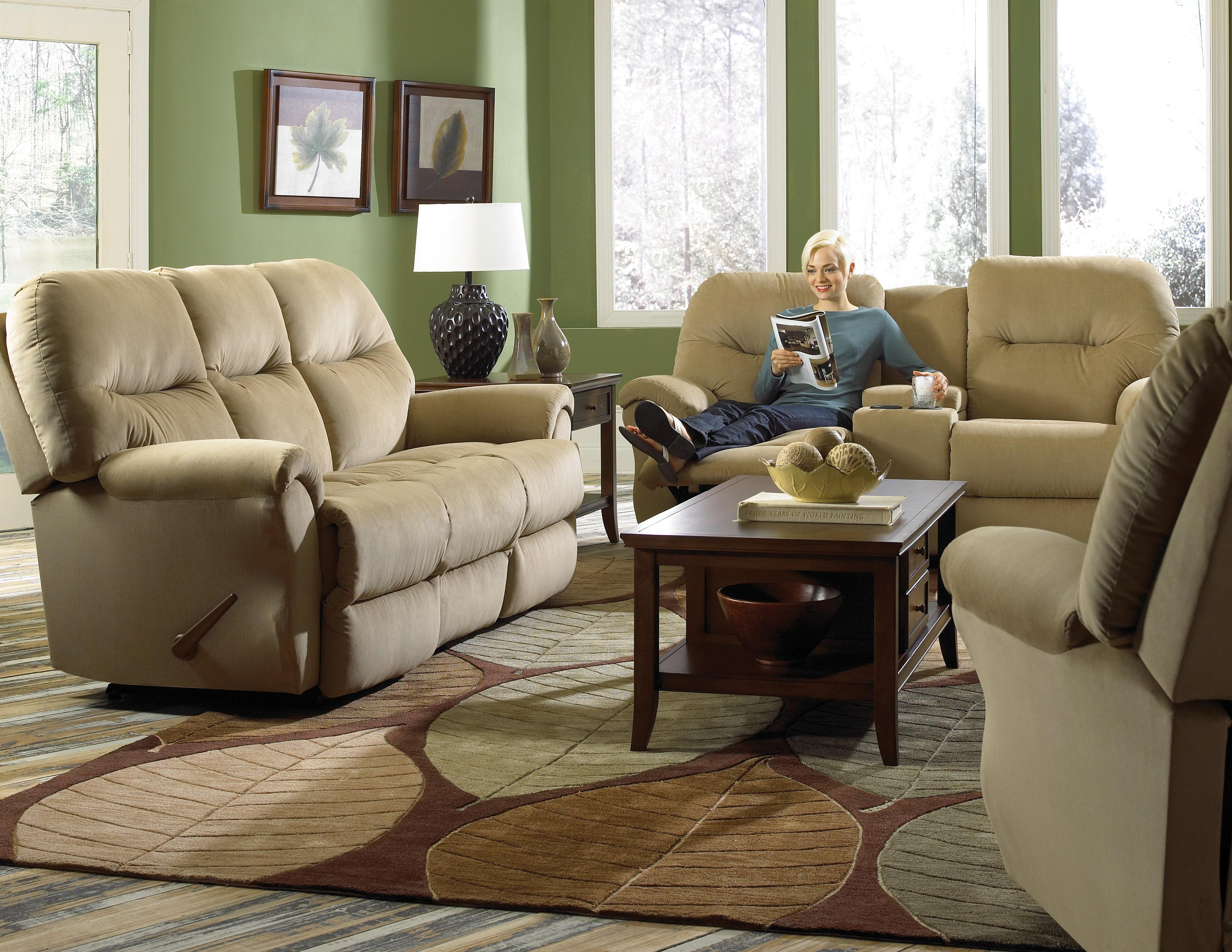 Bodie Rocking Reclining Loveseat With Storage Console By
