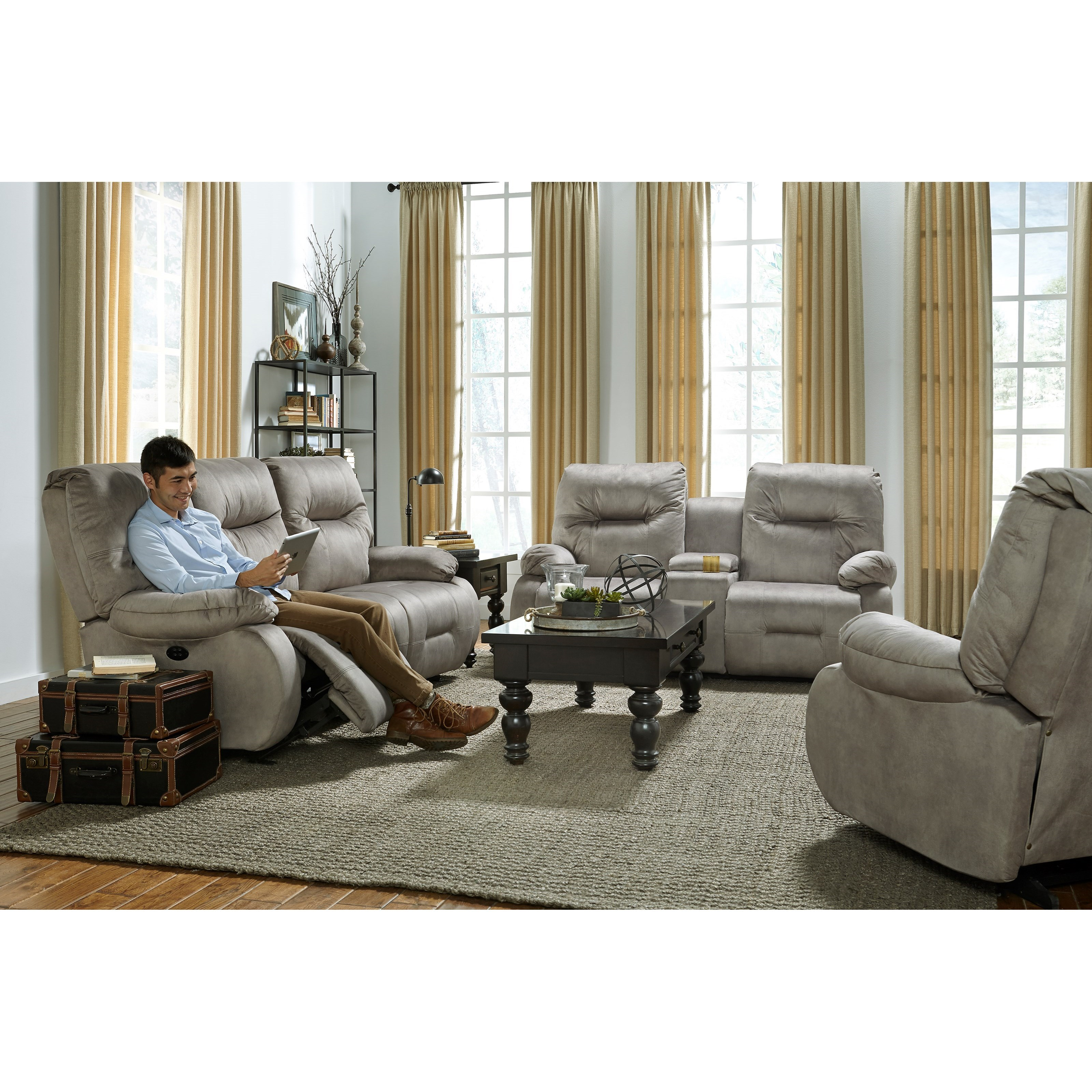 Best Home Furnishings Brinley 2 Space Saver Console Loveseat Knight Furniture Mattress