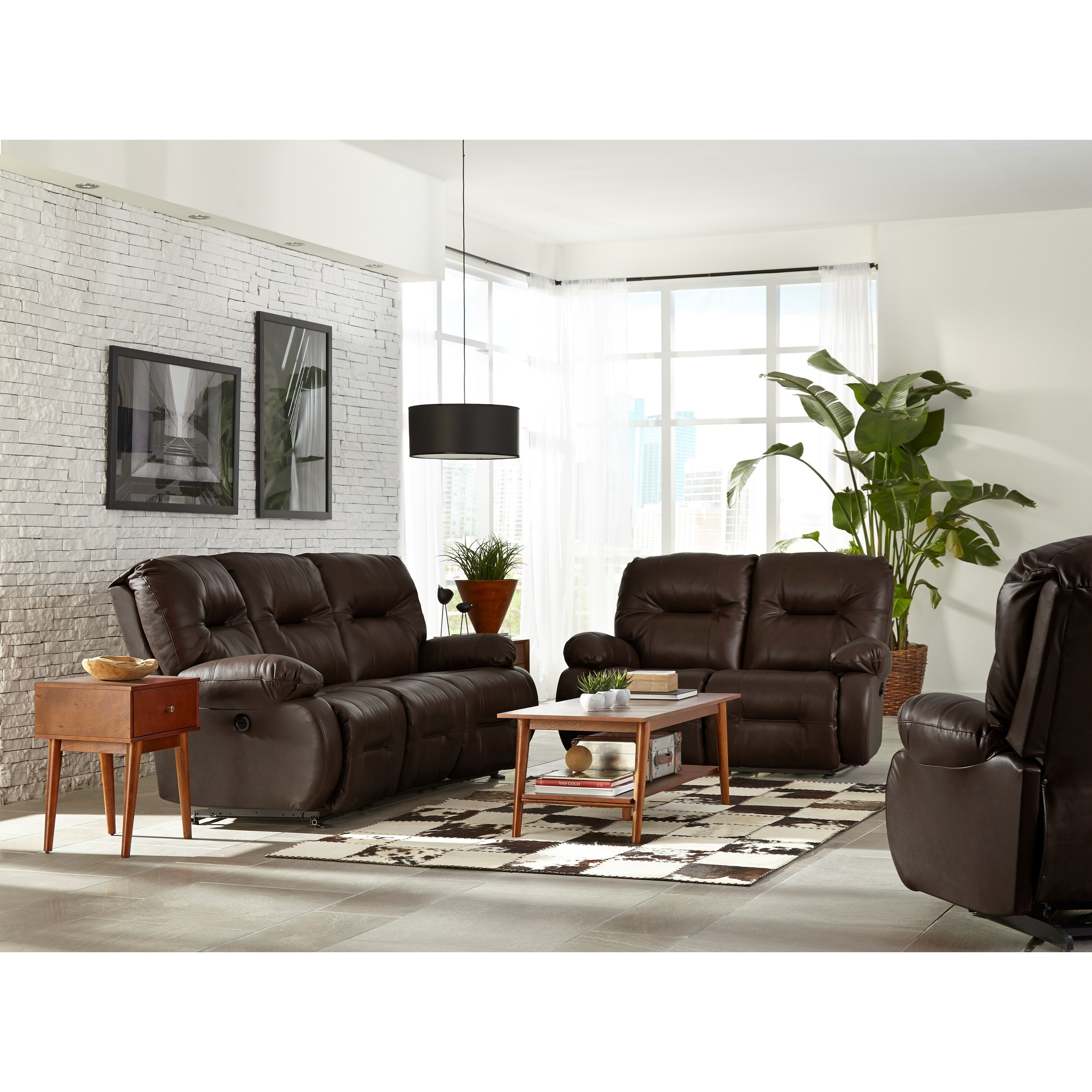 Best Home Furnishings Brinley 2 Brinley Space Saver Power Reclining Loveseat Fashion Furniture