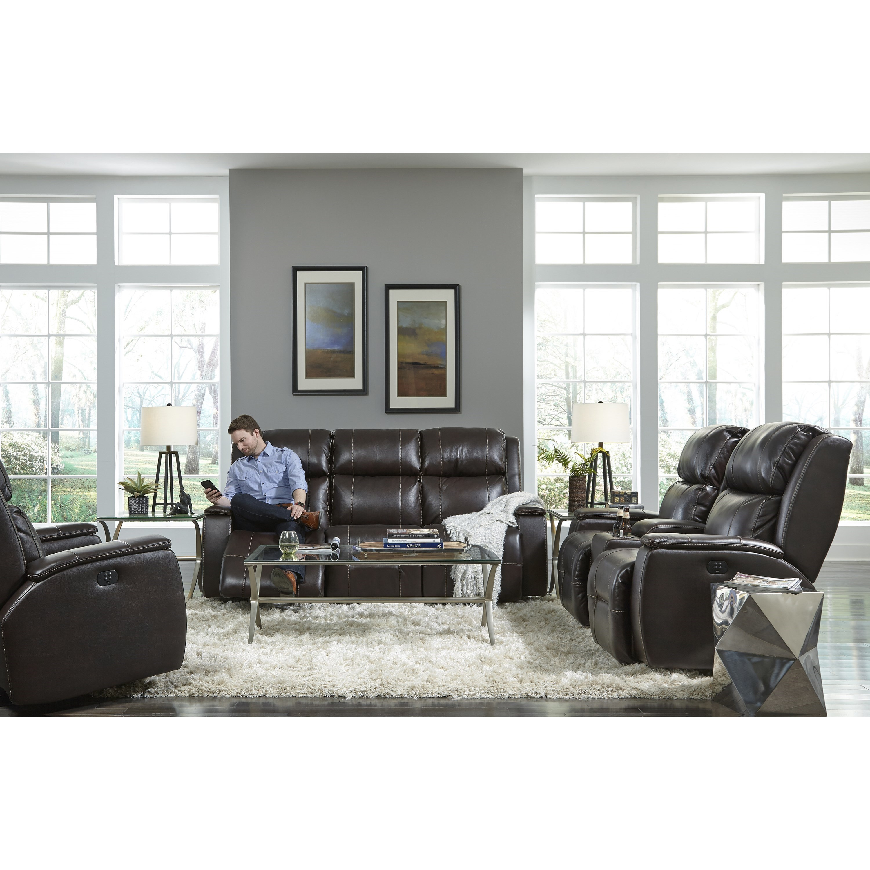 Best Home Furnishings Colton S740cz4 Power Space Saver Reclining Sofa With Power Tilt Headrest