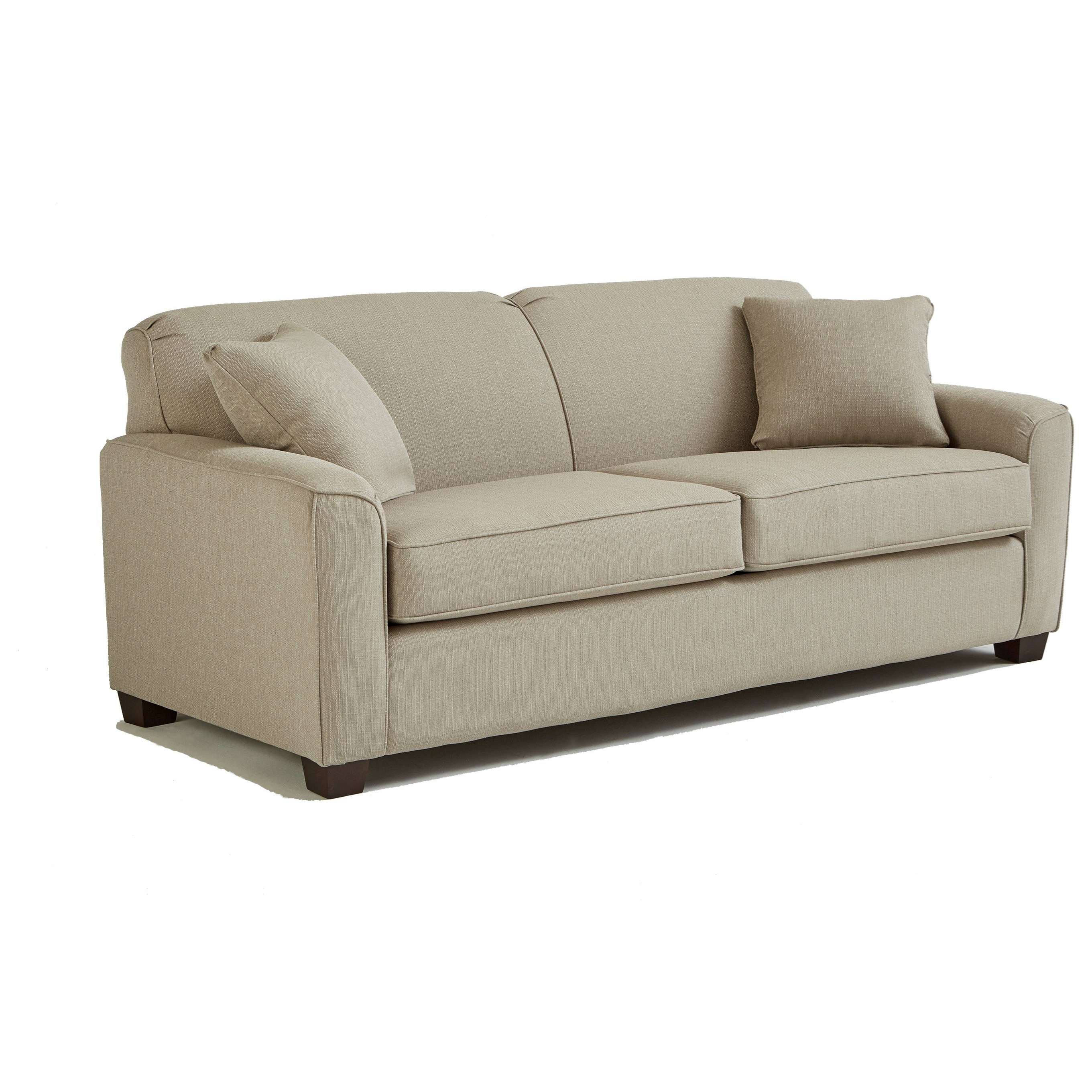 Best Home Furnishings Dinah Contemporary Queen Sofa Sleeper With Air Dream Mattress Olinde 39 S