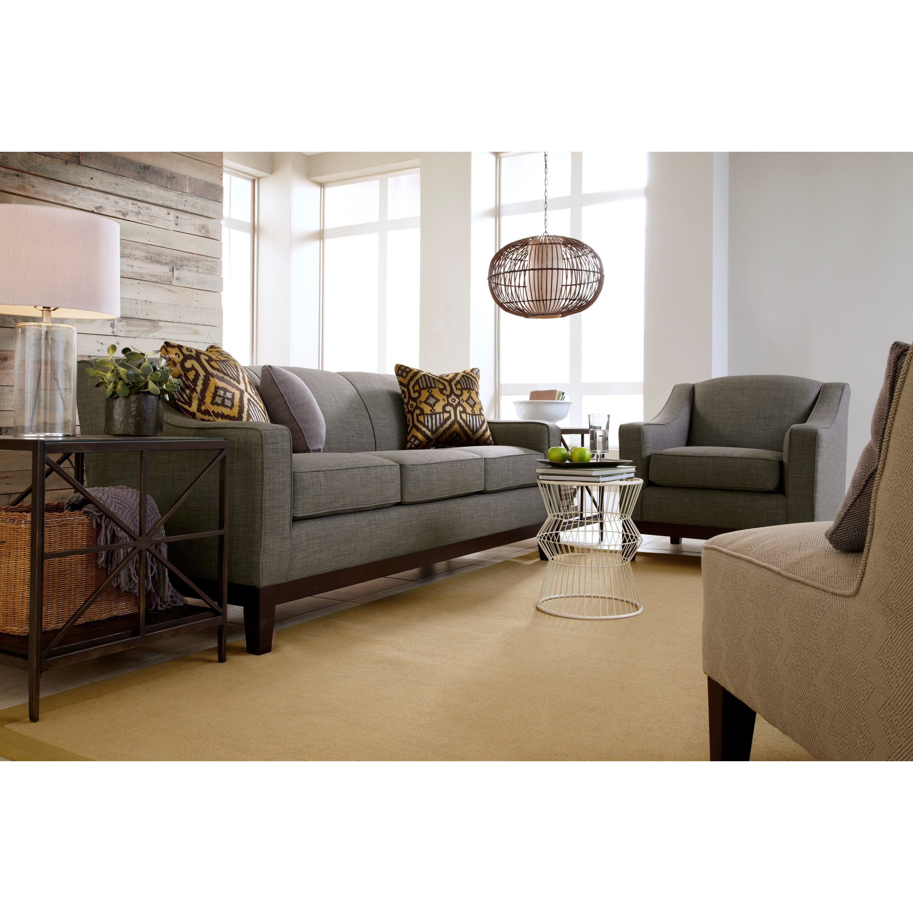 Best Home Furnishings Emeline Customizable 84 Sofa With Track Arm And Wood Legs Fashion