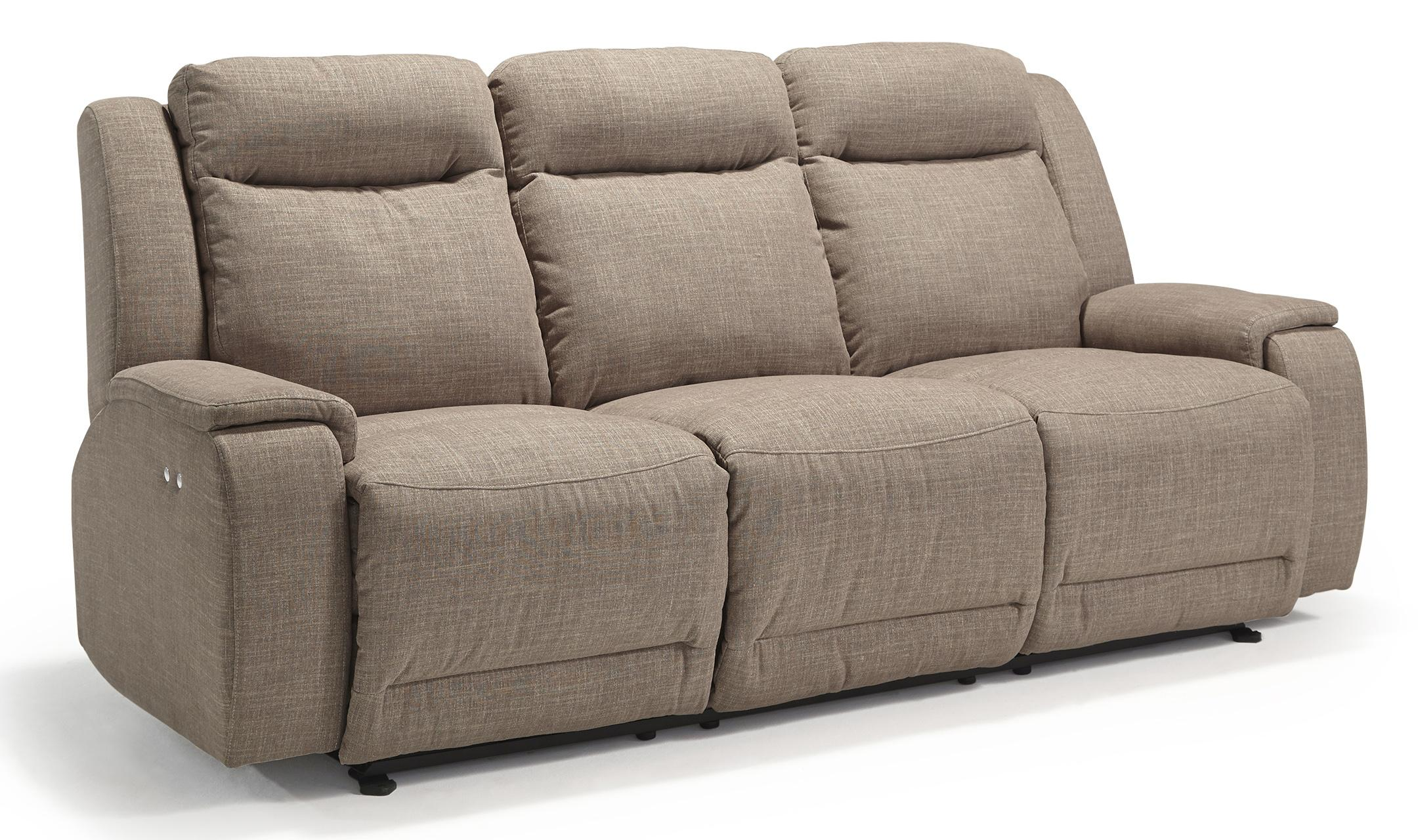 Hardisty casual reclining sofa with memory foam cushions for Casual couch