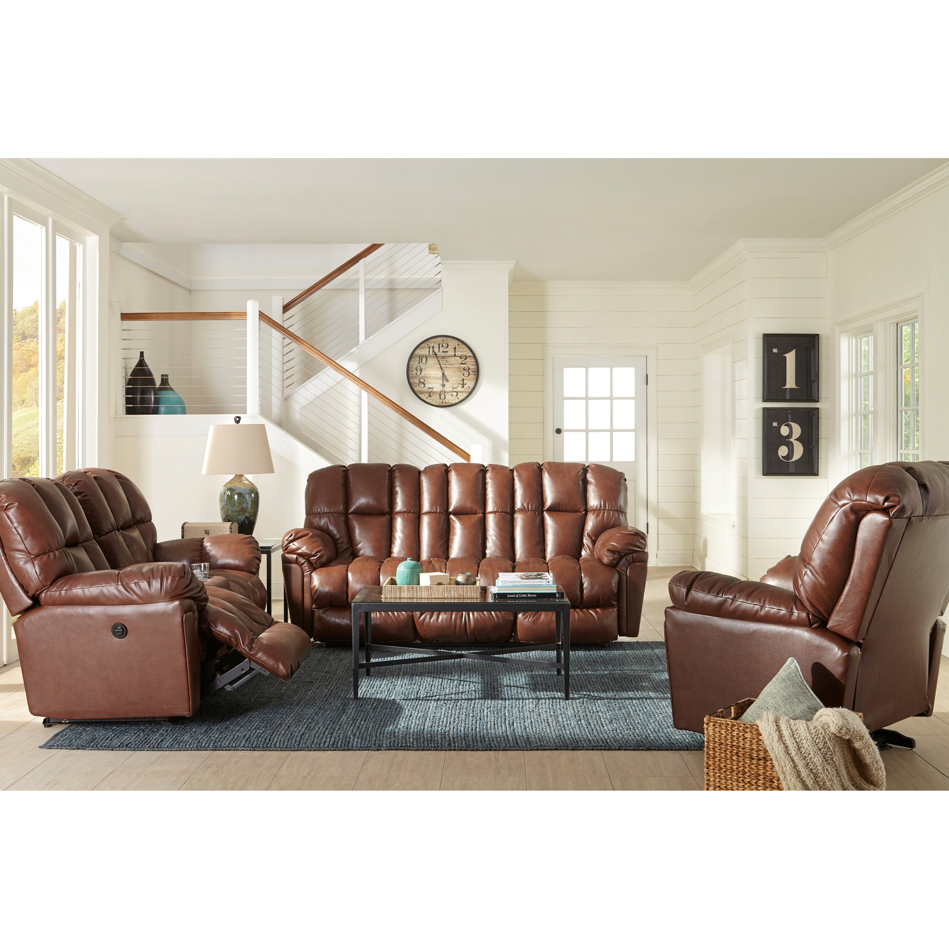 Best Home Furnishings Lucas Plush Space Saver Reclining Loveseat With Drink Console Fashion