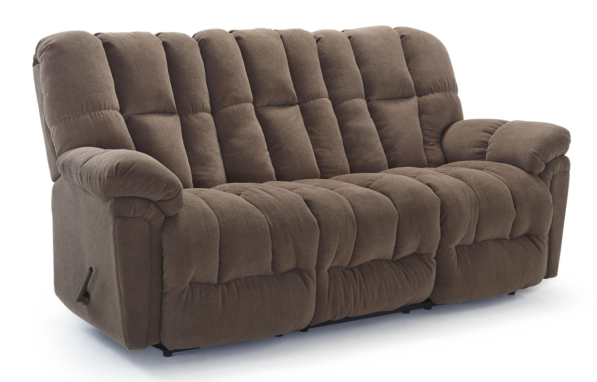 Lucas casual plush reclining sofa with full coverage for Plush sectional sofa with chaise