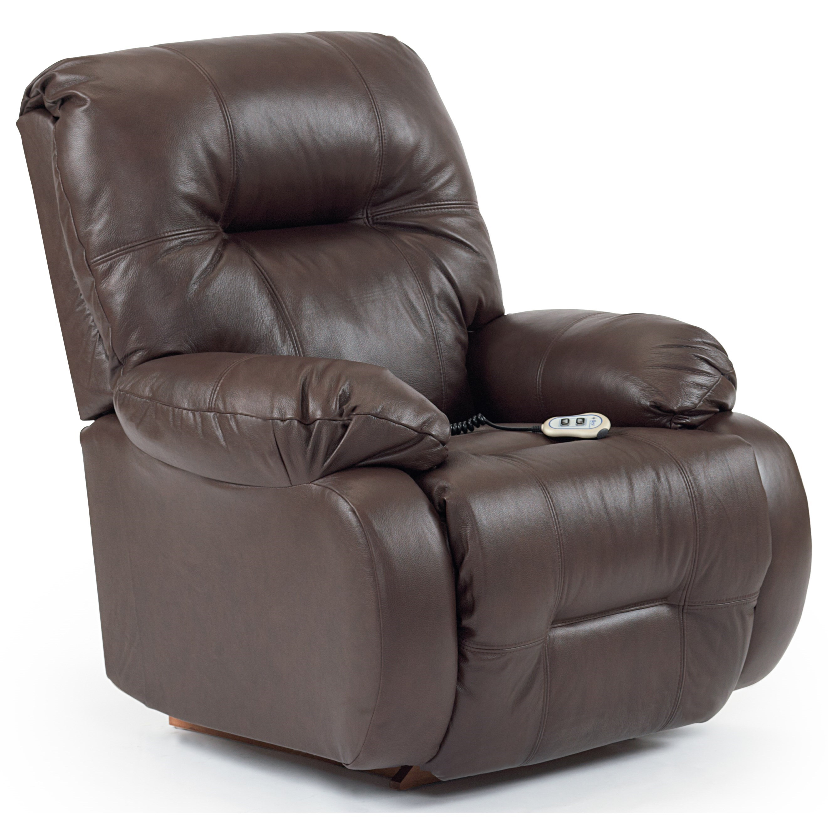 Best home furnishings recliners medium brinley power for Recliner lift chair