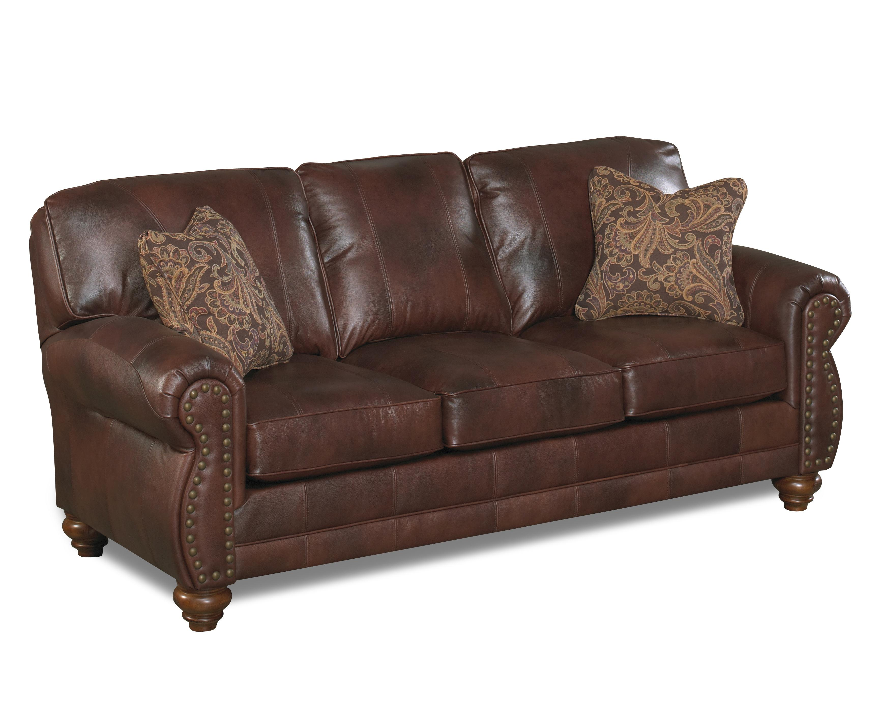 Best home furnishings noble s64lu stationary leather sofa for Best furnishings