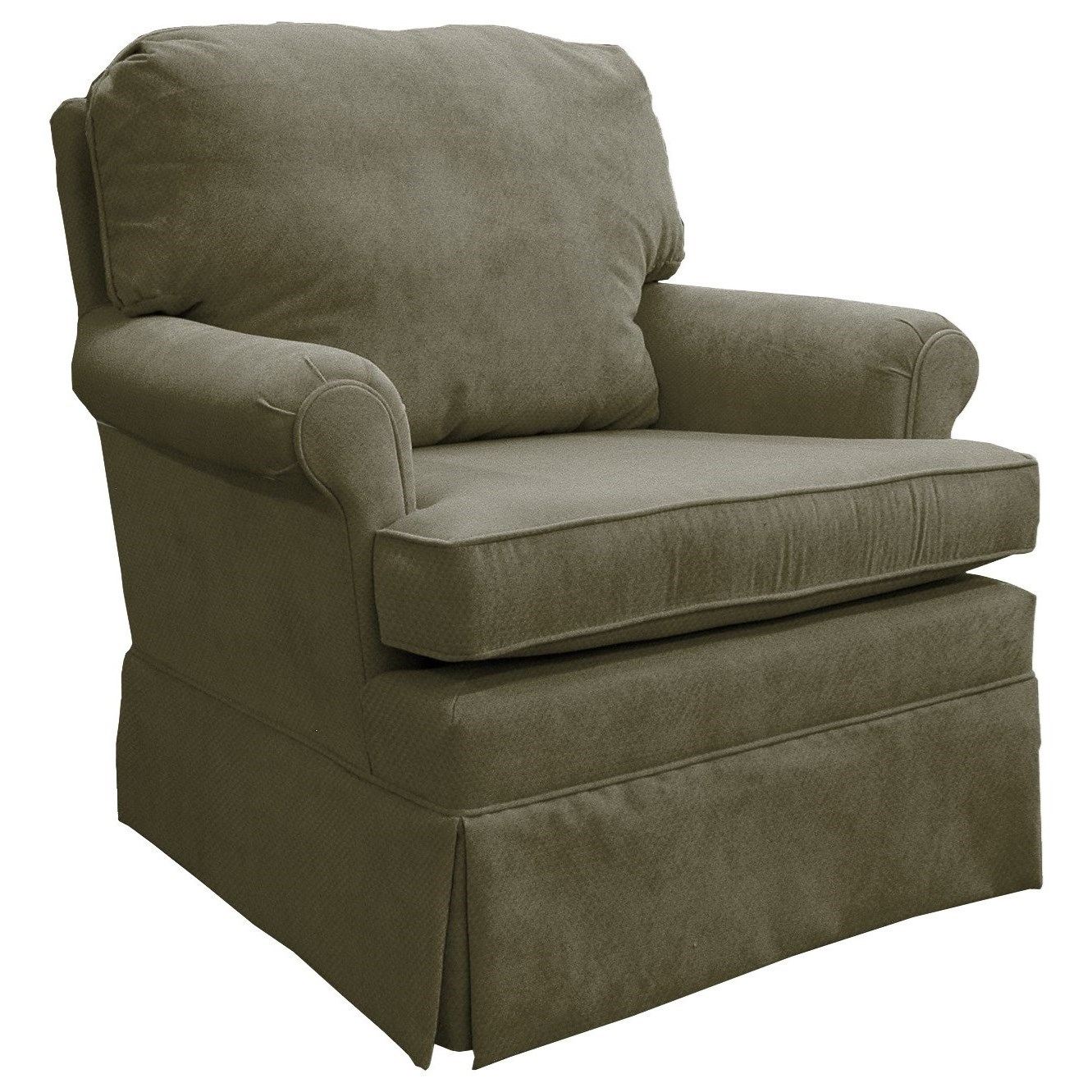Small upholstered swivel rocking chair best home for Best home furnishings