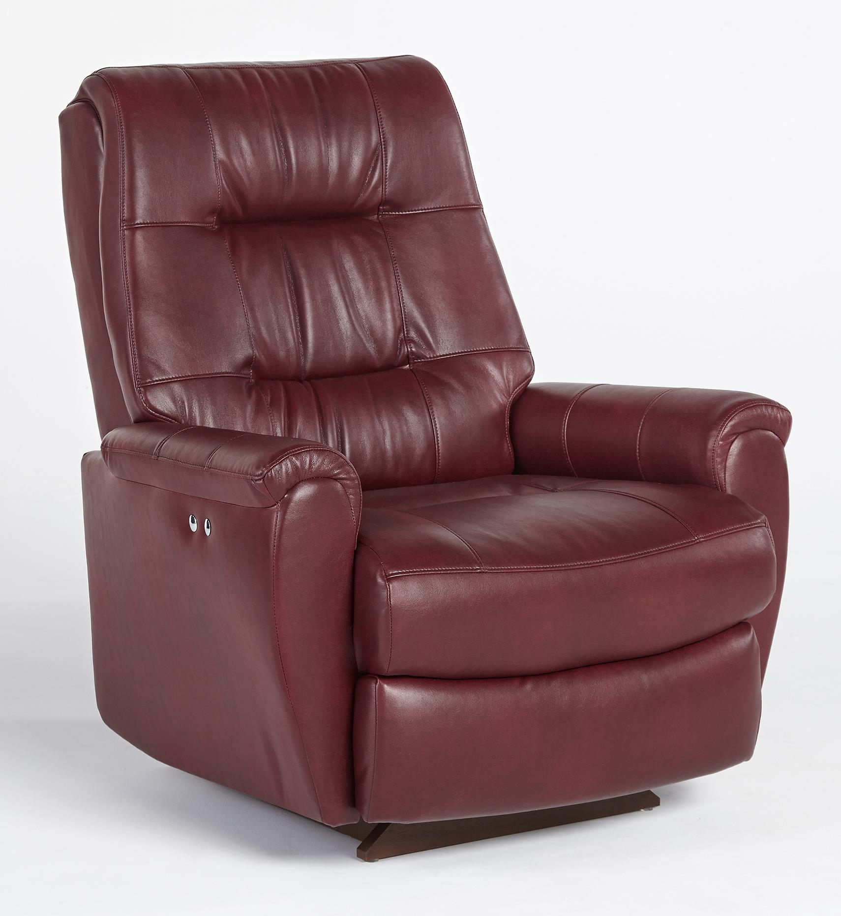 Recliners petite felicia swivel rocker recliner with button tufted back by best home - Best furniture ...