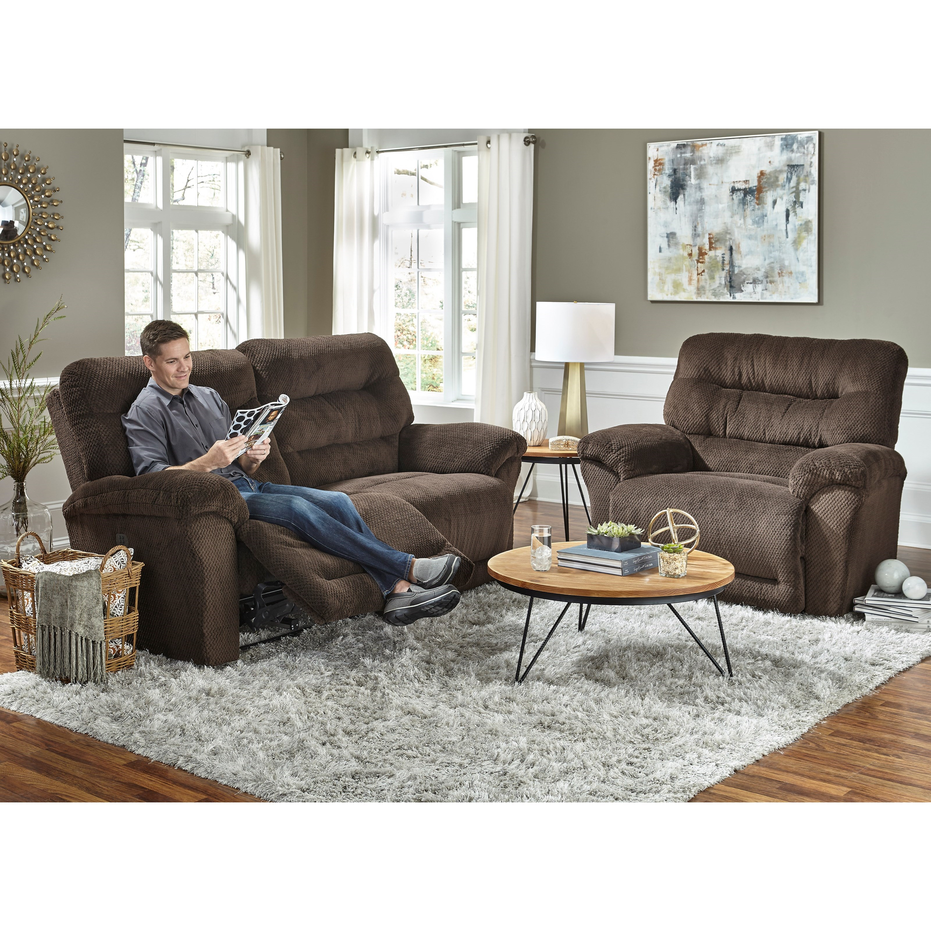 Best Home Furnishings Shelby Reclining Living Room Group