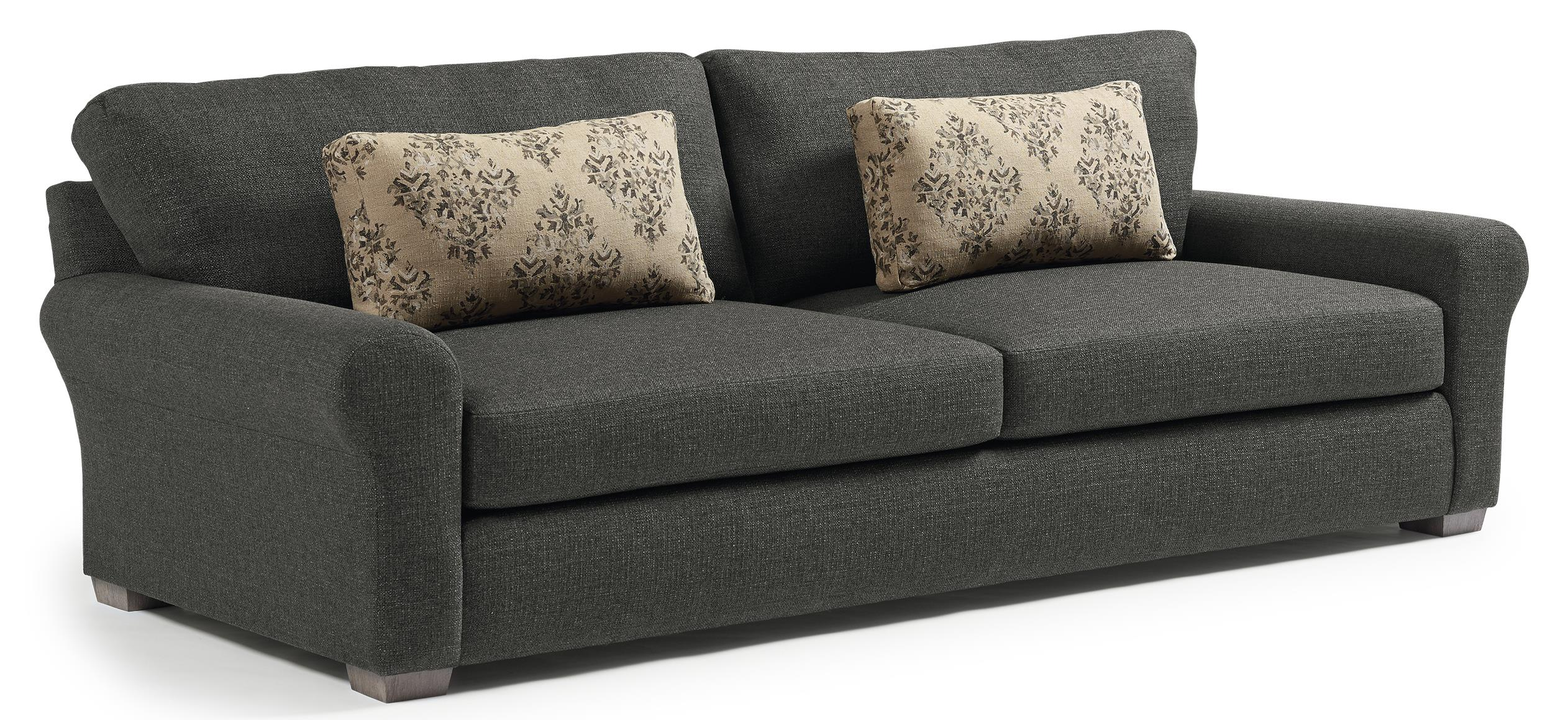 Best home furnishings sophia s69 transitional wide sofa for Wide couches