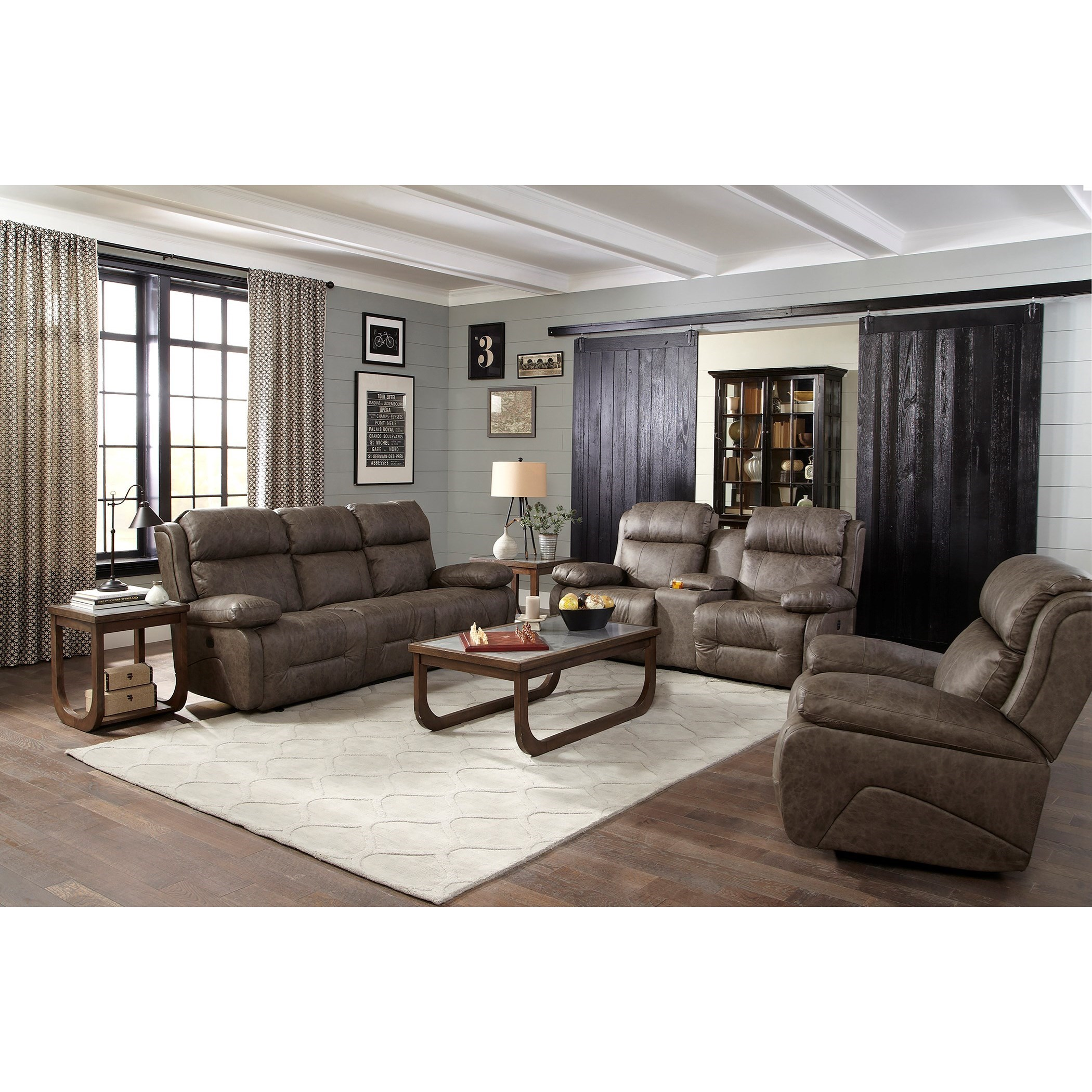 Best Home Furnishings Telva Power Rocking Reclining Console Loveseat With Power Tilt Headrests