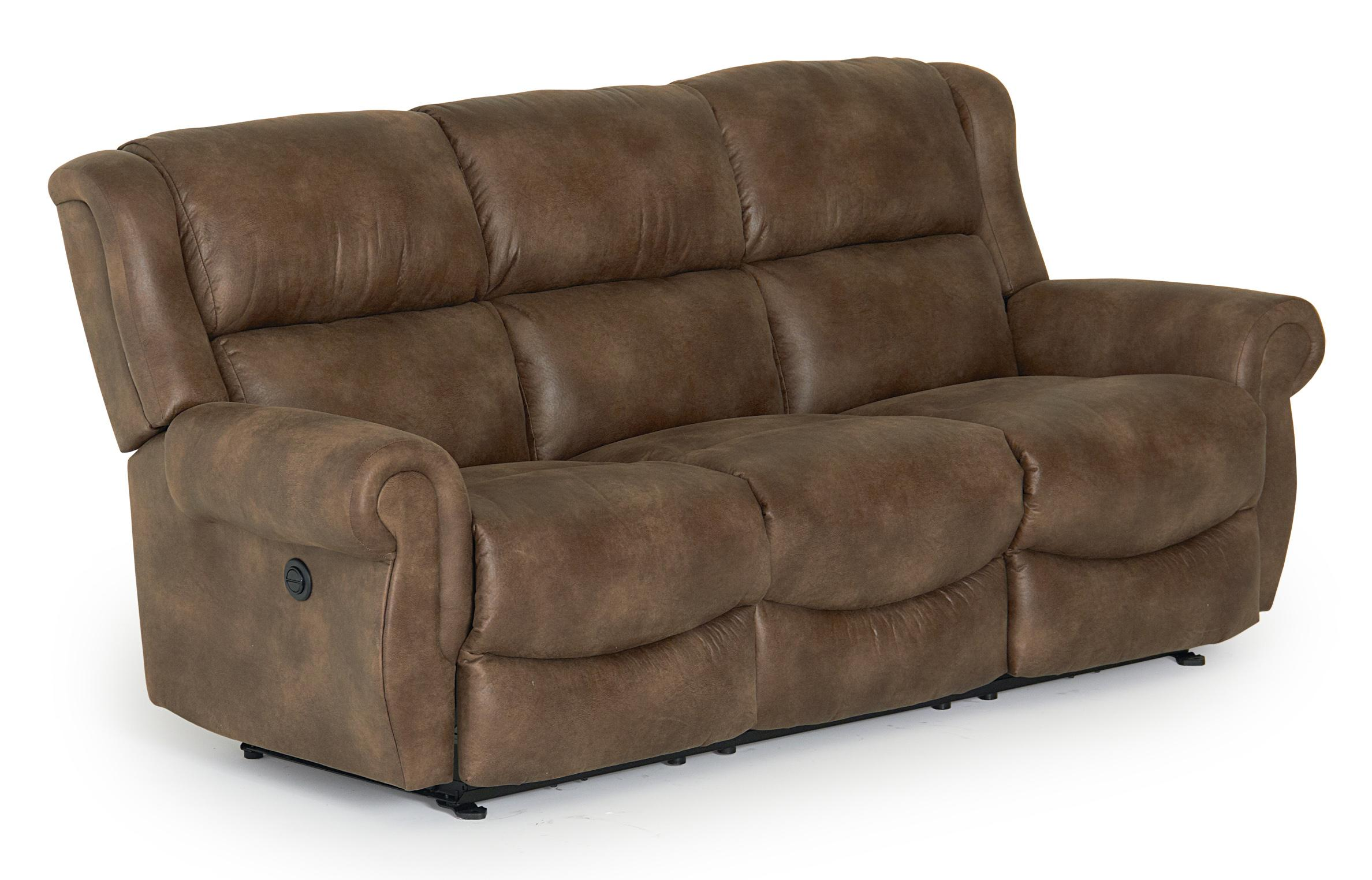 Best home furnishings terrill transitional power space saver reclining sofa wayside furniture - Sofa reclinable ...
