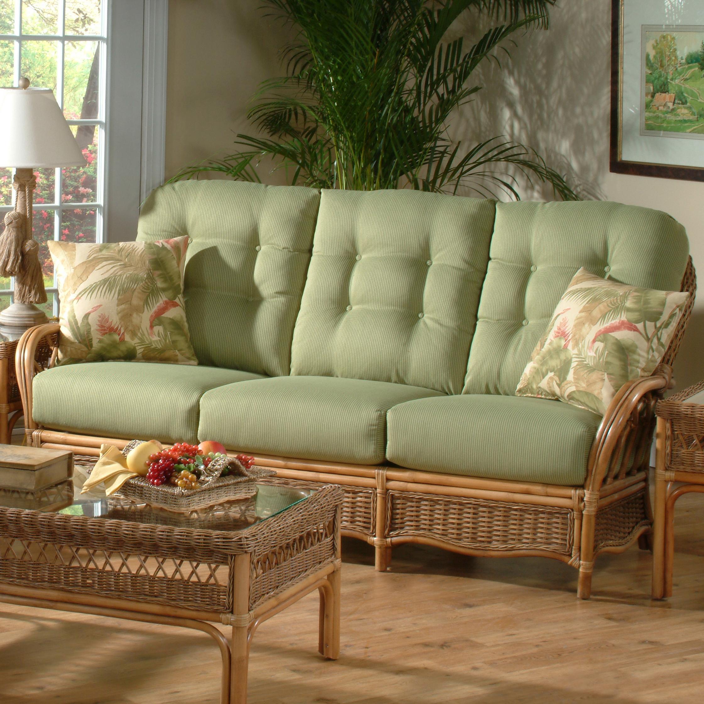 Braxton culler everglade tropical rattan sofa Braxton culler living room furniture