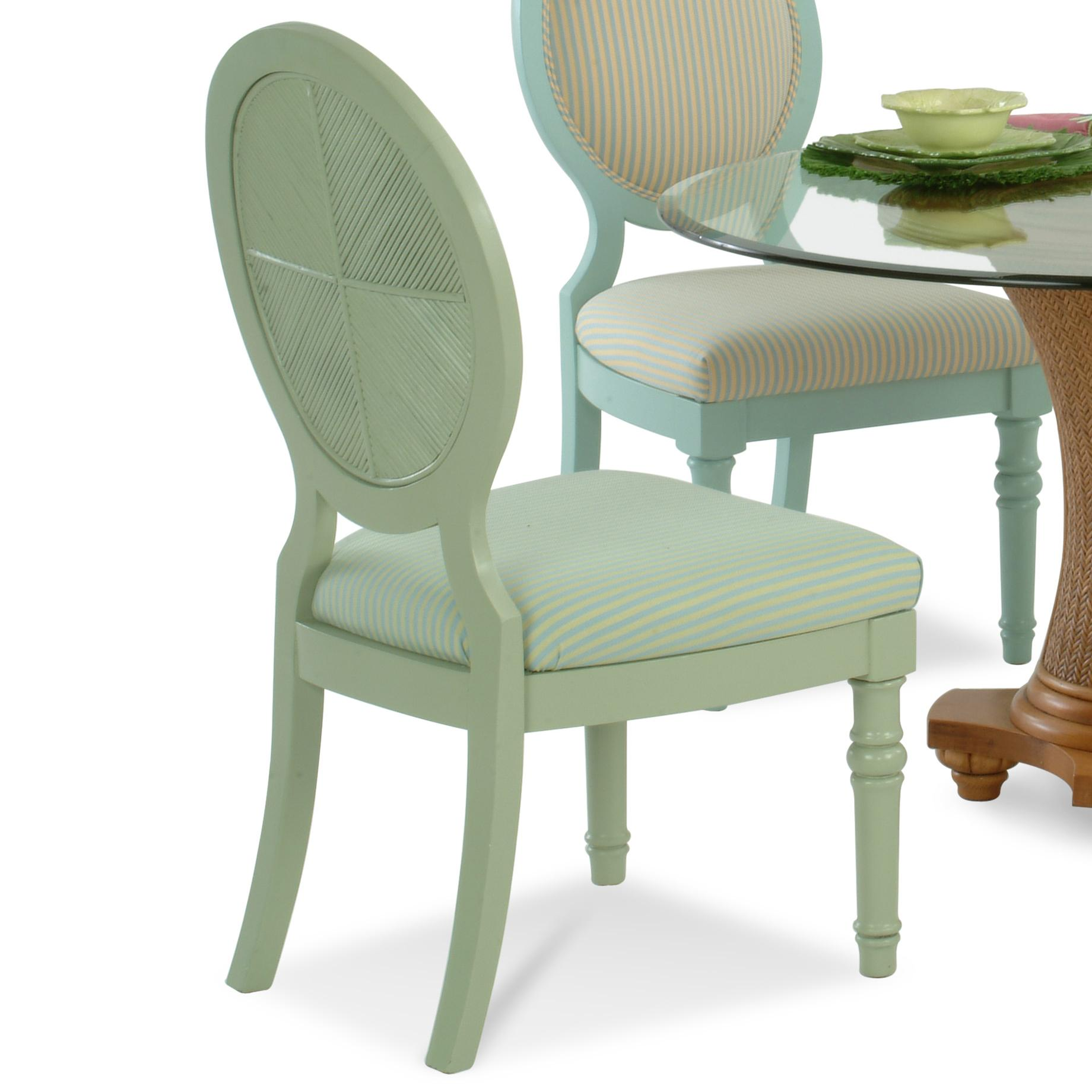 Vendor 10 sawgrass 848 028 tropical oval backed side chair for Ashley furniture sawgrass