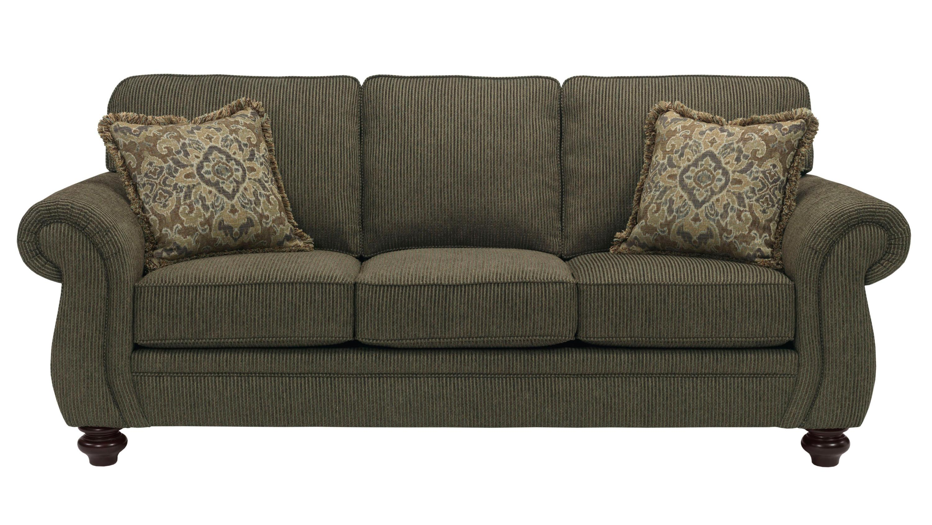 Broyhill express cassandra 3688 3q traditional sofa with for Traditional sofas and loveseats