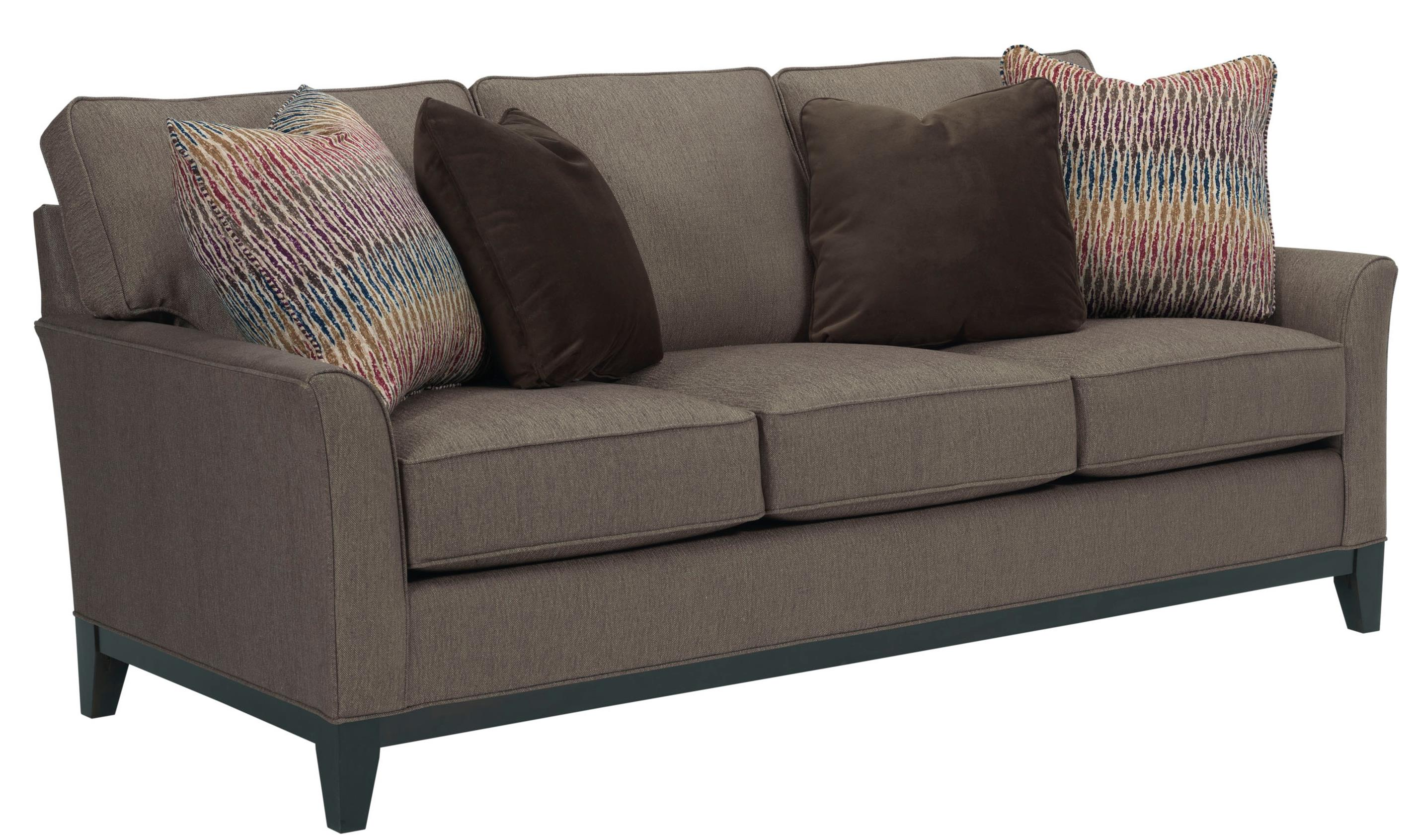 Broyhill express perspectives stationary sofa with exposed for Divan xpress