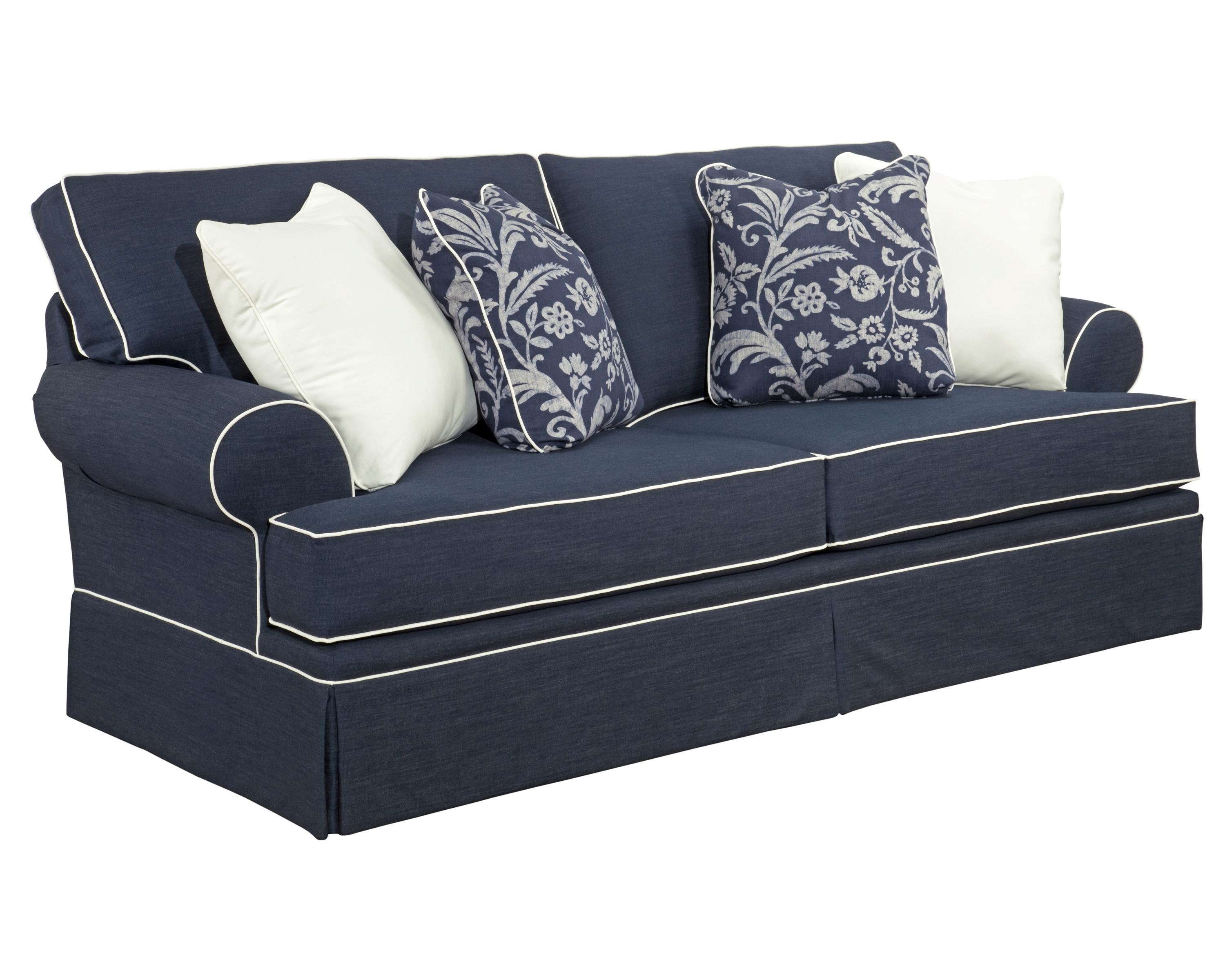 Broyhill furniture emily 6262 3 casual style sofa with for Casual couch