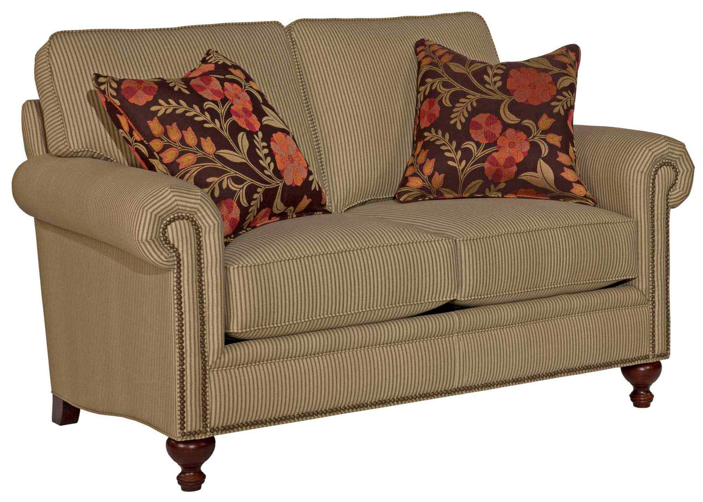Broyhill Furniture Harrison Traditional Loveseat with Nail