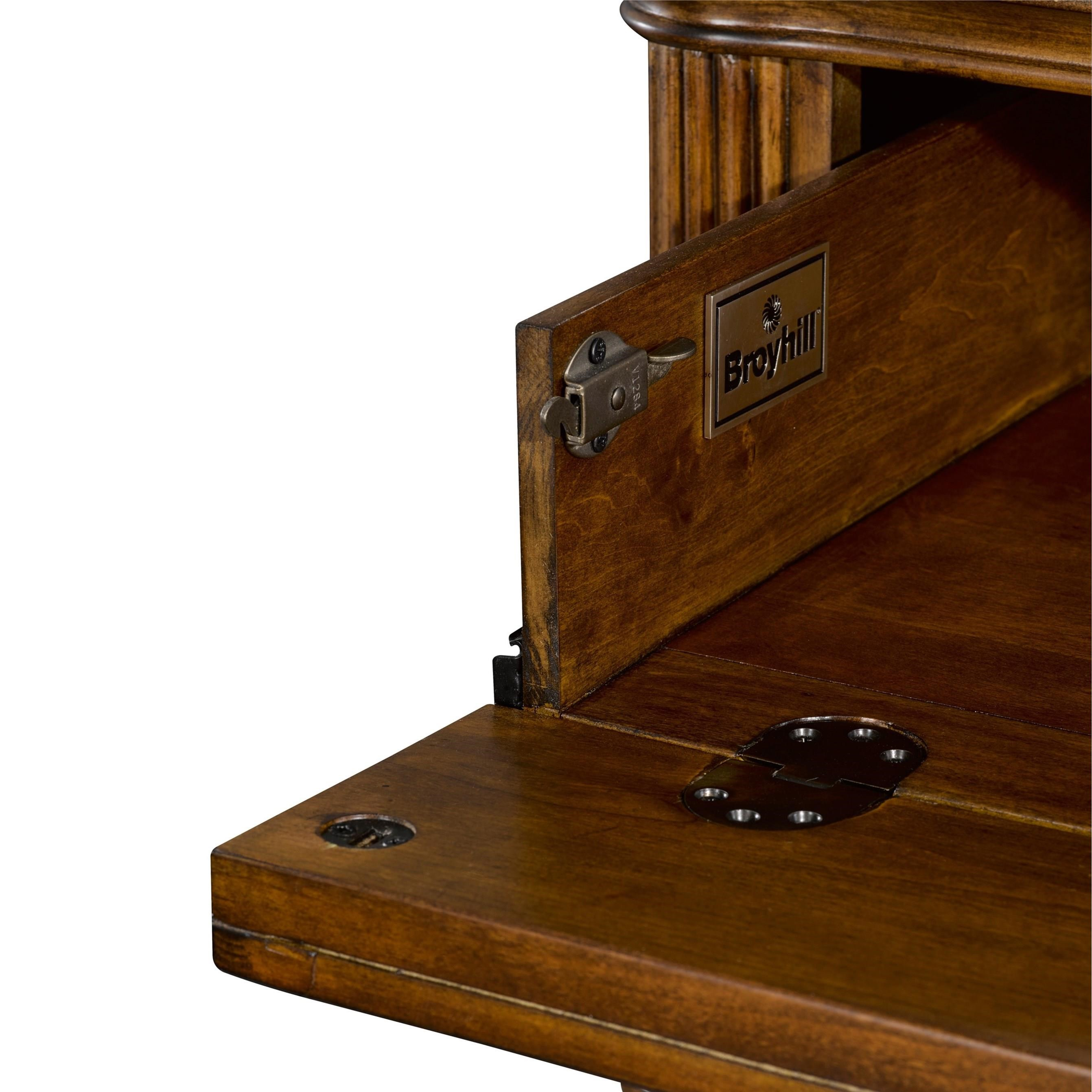 Broyhill Furniture Amalie Bay 8 Drawer Dresser And Mirror Combo With Padded Raffia Accents