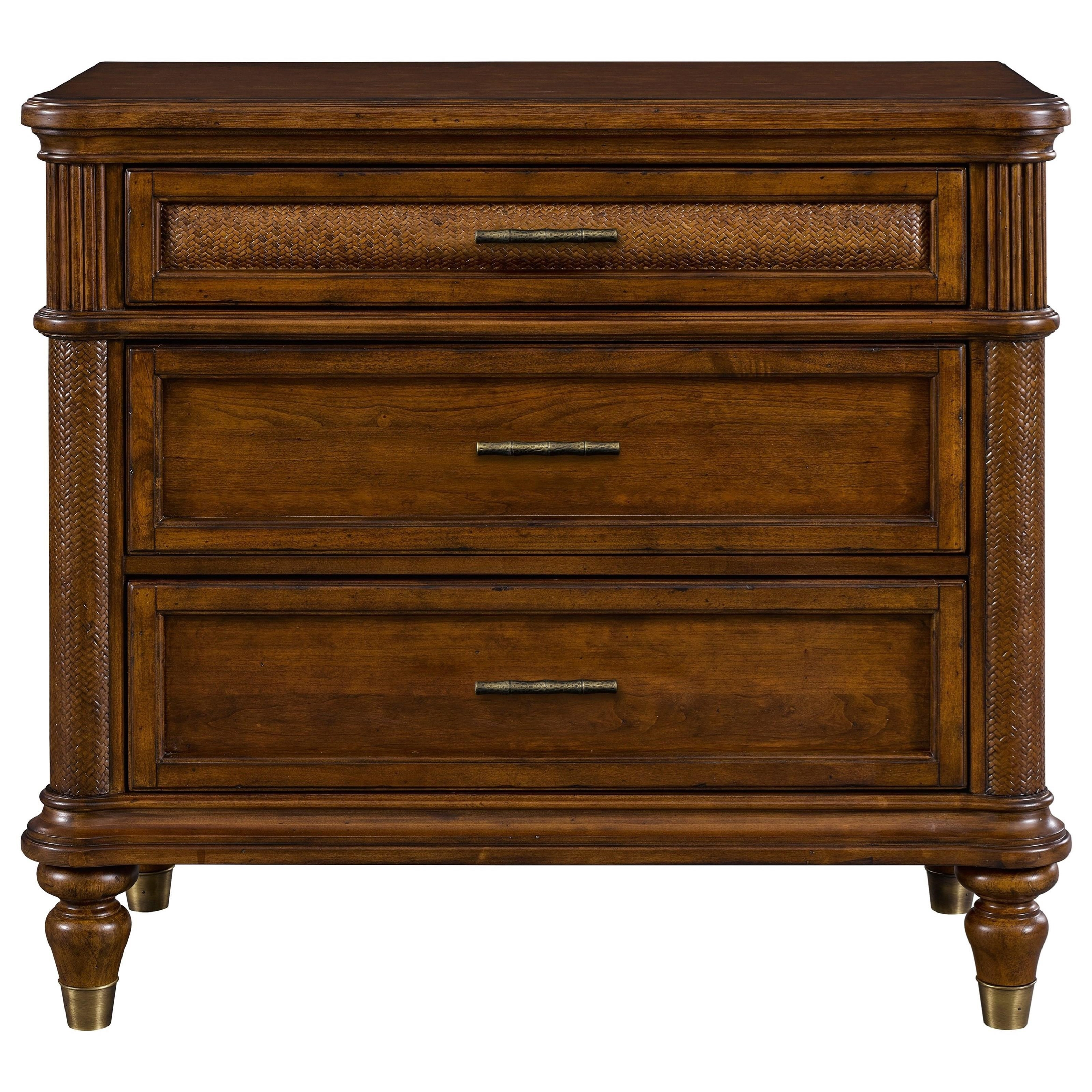 Broyhill Furniture Amalie Bay 4548 283 3 Drawer Bachelors Chest With Padded Raffia Hudson 39 S