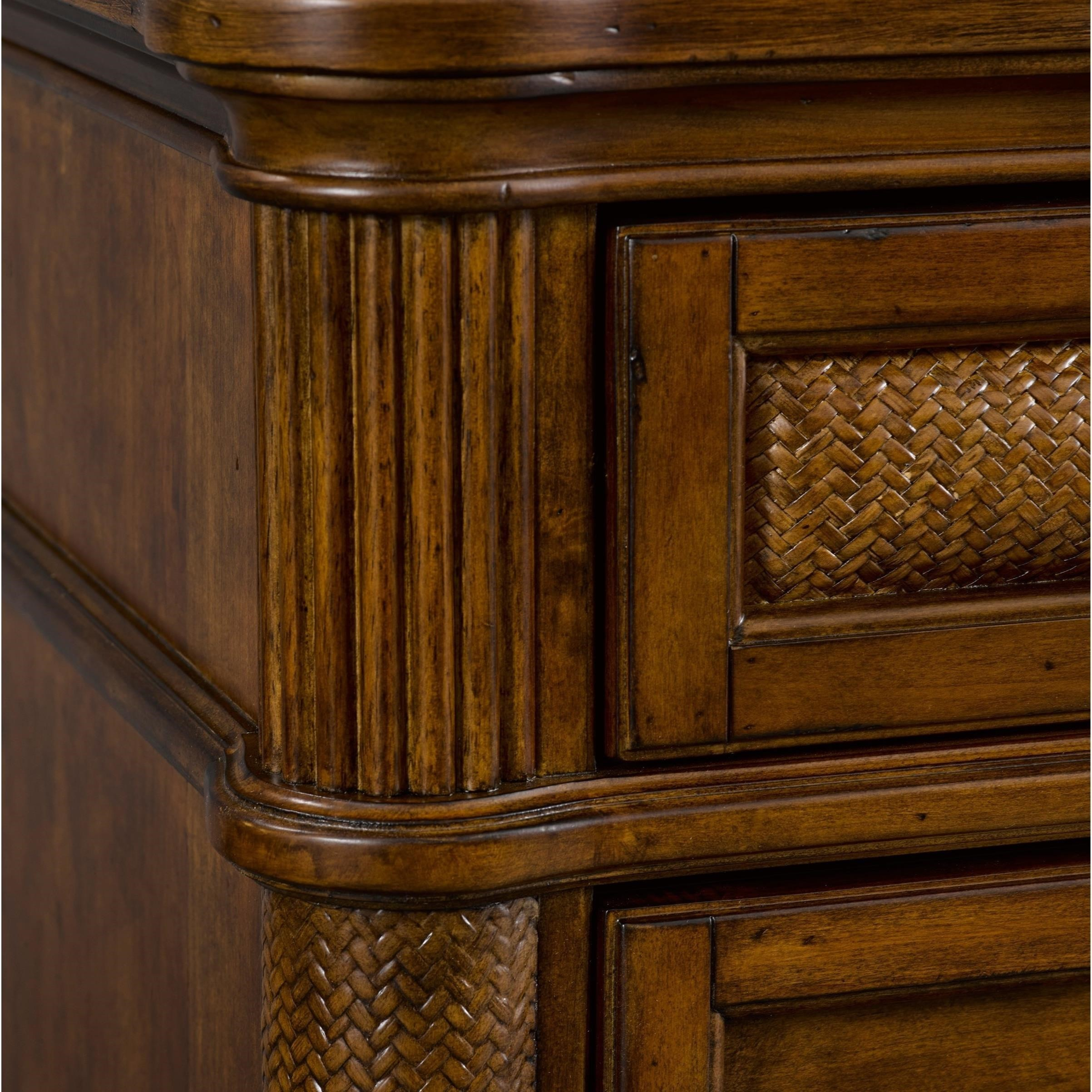 Broyhill Furniture Amalie Bay 4548 292 3 Drawer Nightstand With Padded Raffia Accents Hudson 39 S