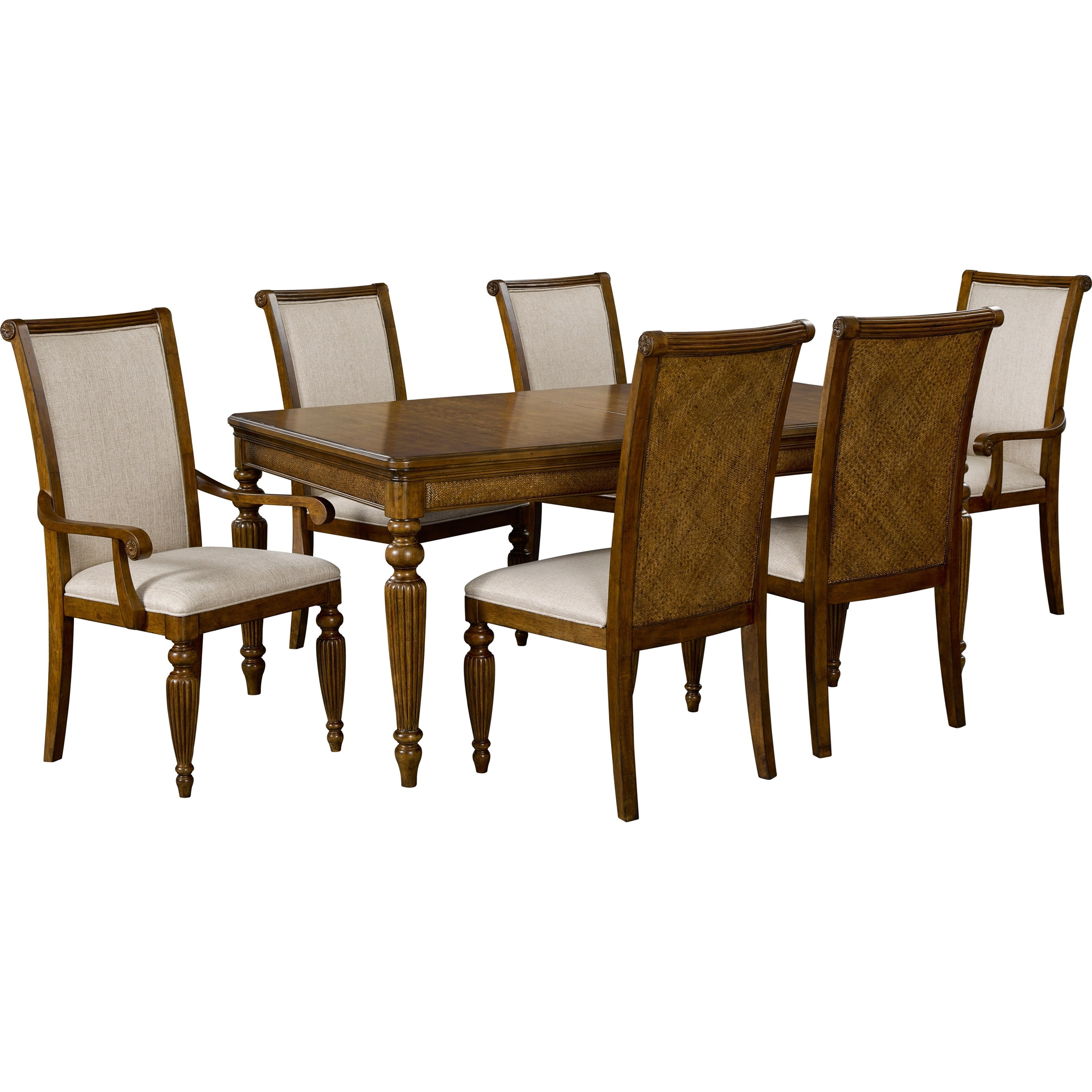 Broyhill furniture amalie bay tropical 7 piece table and for Broyhill dining room