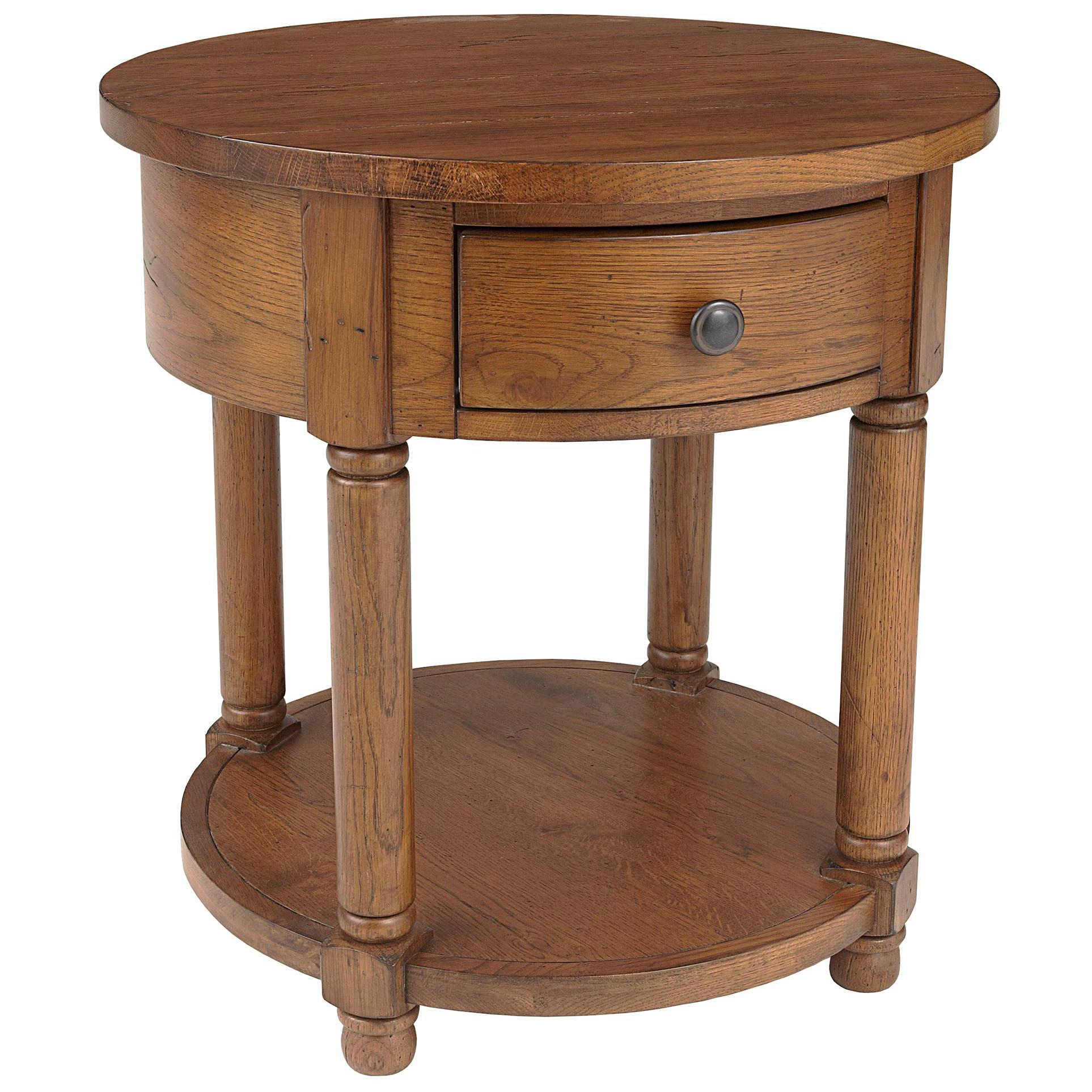 Broyhill furniture attic heirlooms round end table with for Furniture for attics