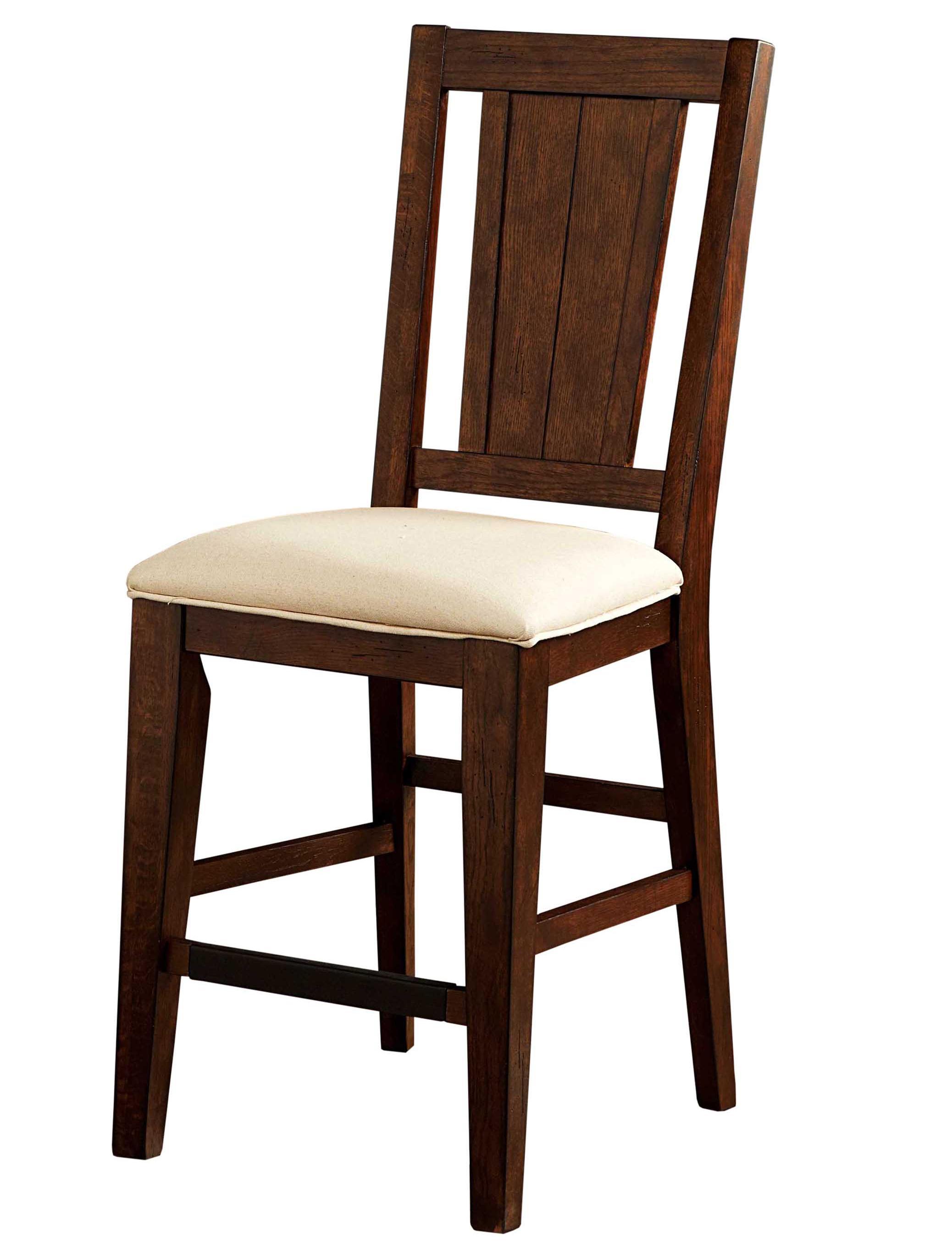 Broyhill furniture attic rustic splat back counter stool for Furniture for attics