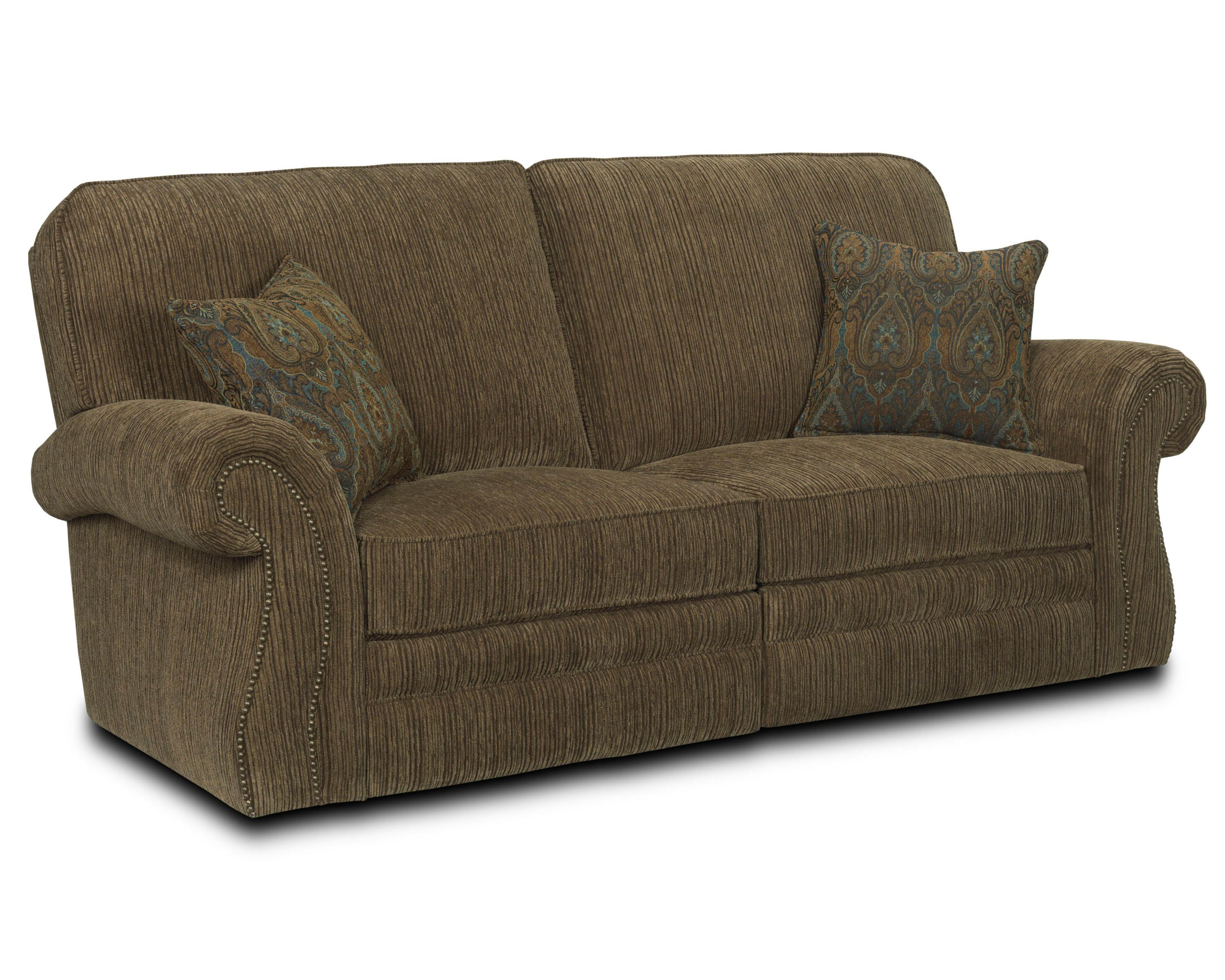 Lane billings 256 39 traditional reclining sofa with for Traditional sofas and loveseats