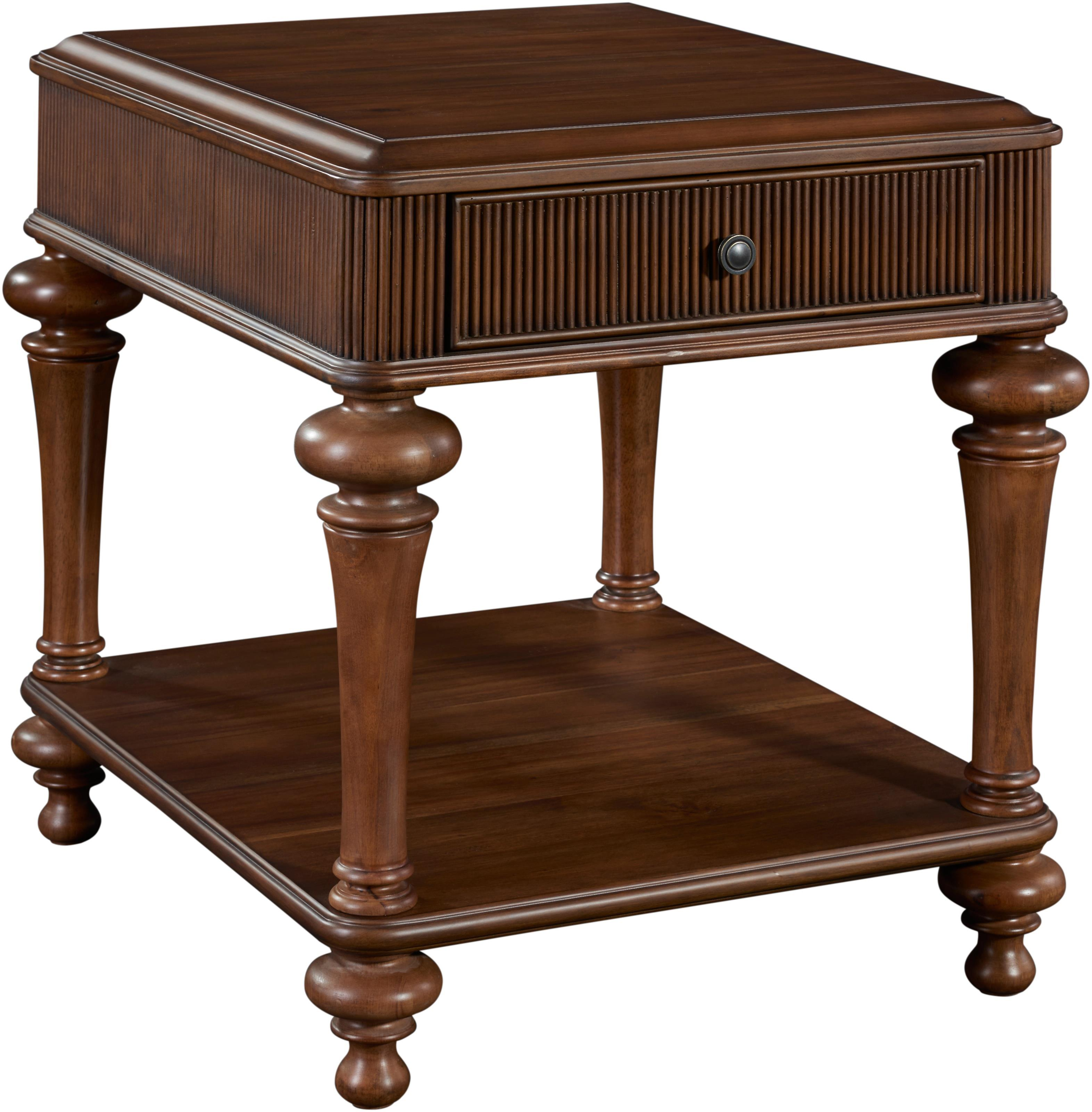 Broyhill furniture cascade drawer end table with shelf for Wayside furniture